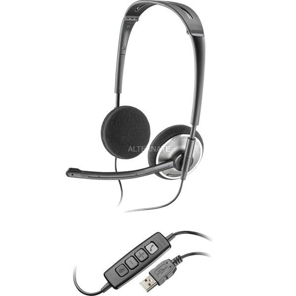 .Audio 478 Binaurale Diadema Plata auricular con micrófono, Auriculares con micrófono