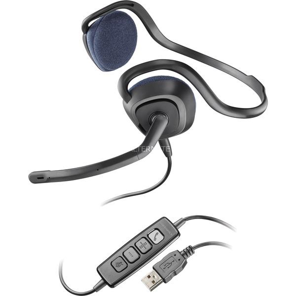 .Audio 648 Binaurale Banda para cuello Negro auricular con micrófono, Auriculares con micrófono
