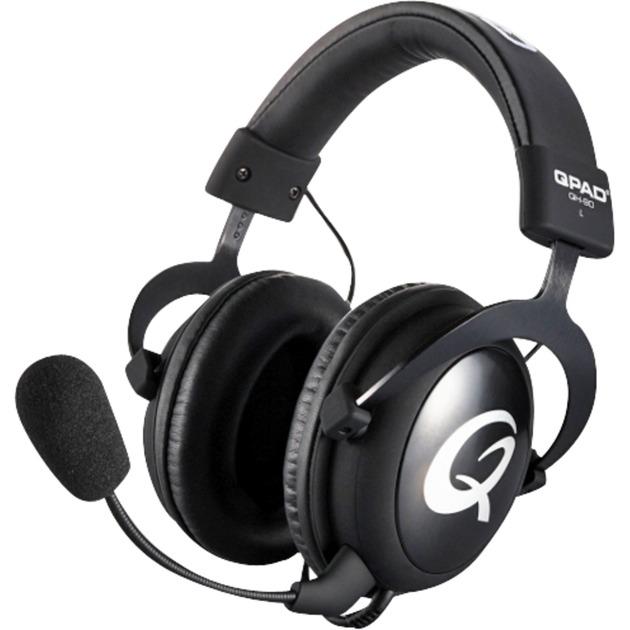 QH-90 Pro Binaural Diadema Negro auricular con micrófono, Auriculares con micrófono