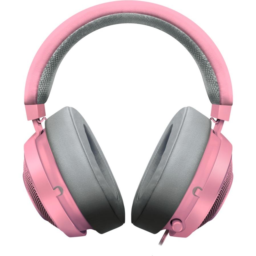 Kraken Pro v2 Quartz Headset auricular con micrófono Binaural Diadema Gris, Rosa, Auriculares con micrófono