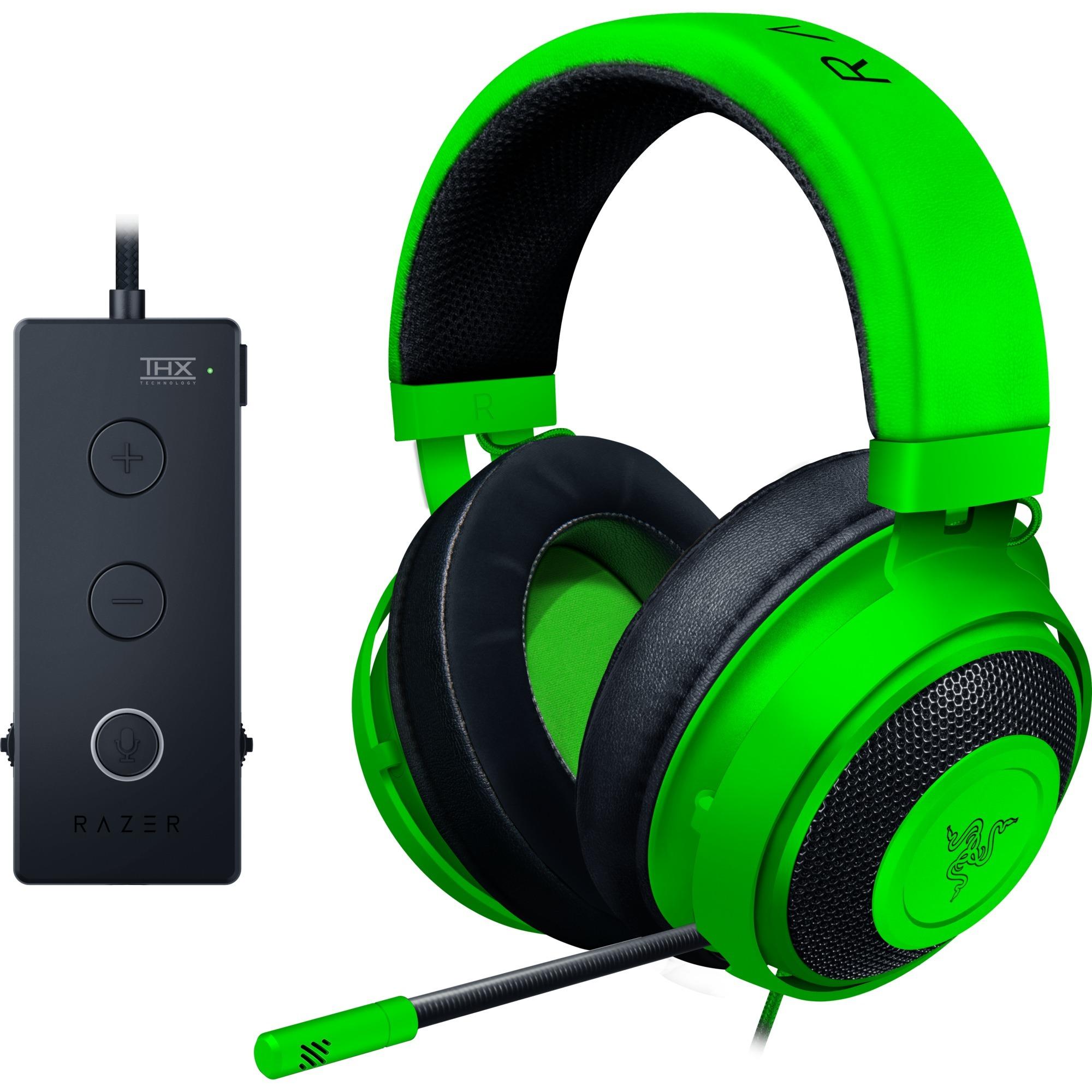 Kraken Tournament ED auricular con micrófono Binaural Diadema Verde, Auriculares con micrófono