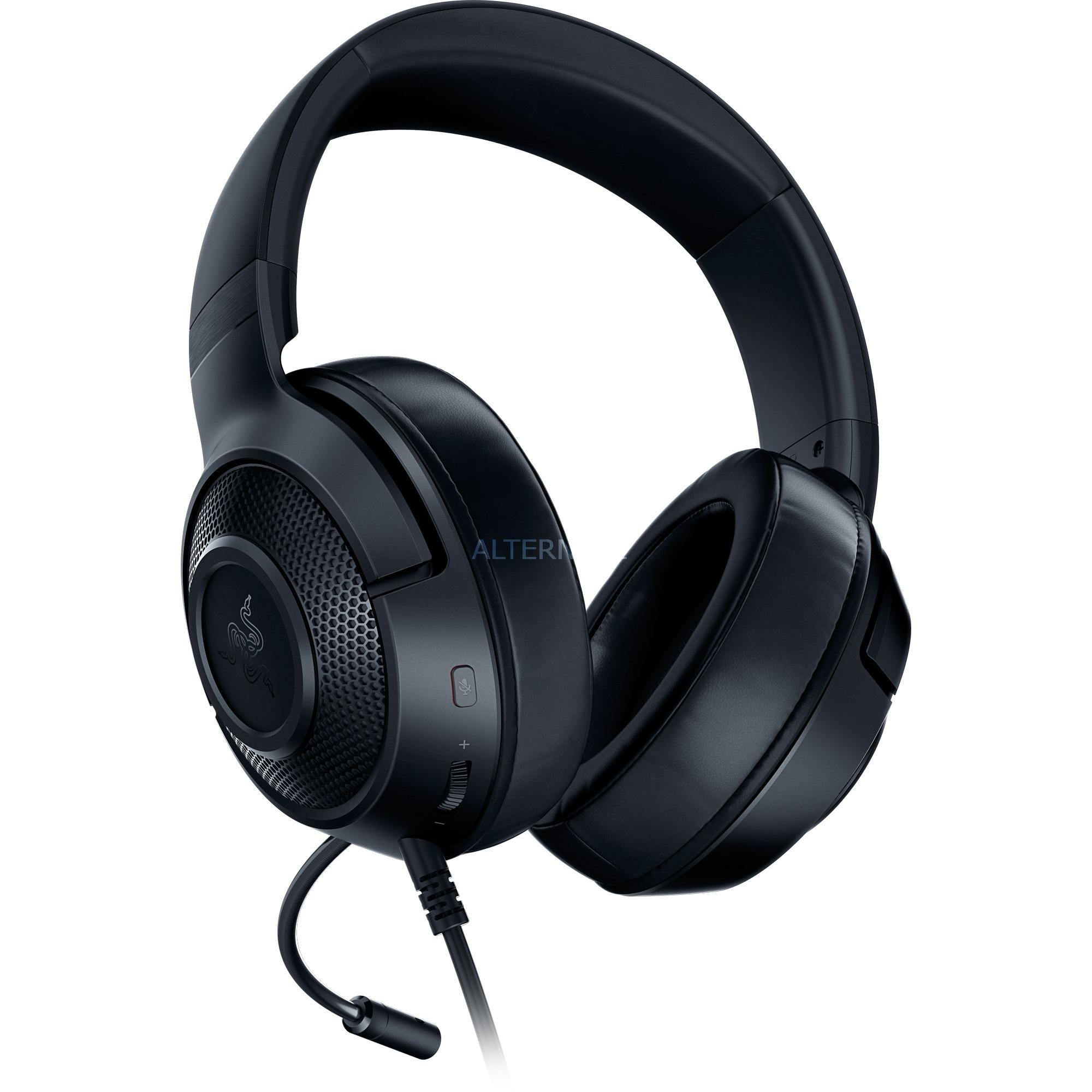 Kraken X auricular con micrófono Diadema Binaural Negro, Auriculares con micrófono