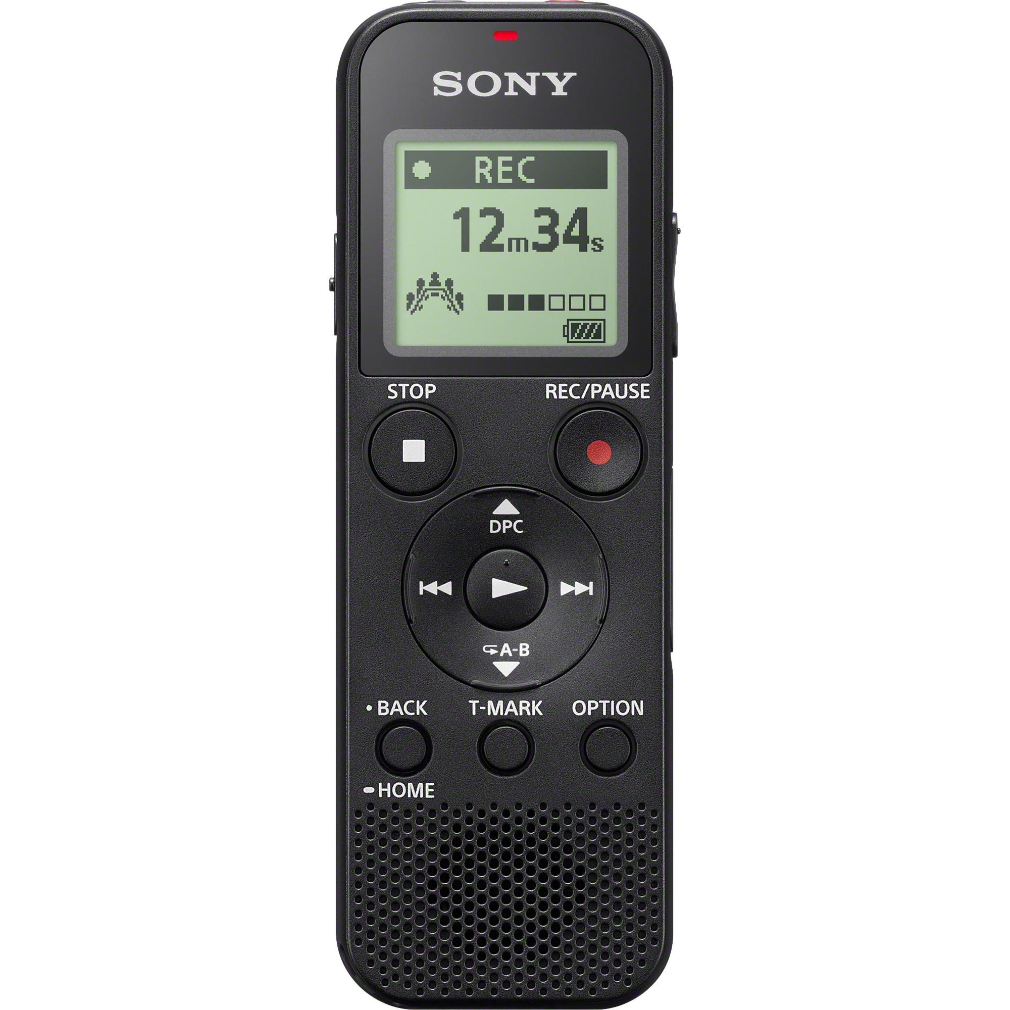 ICD-PX370 dictáfono Memoria interna y tarjeta de memoria Negro