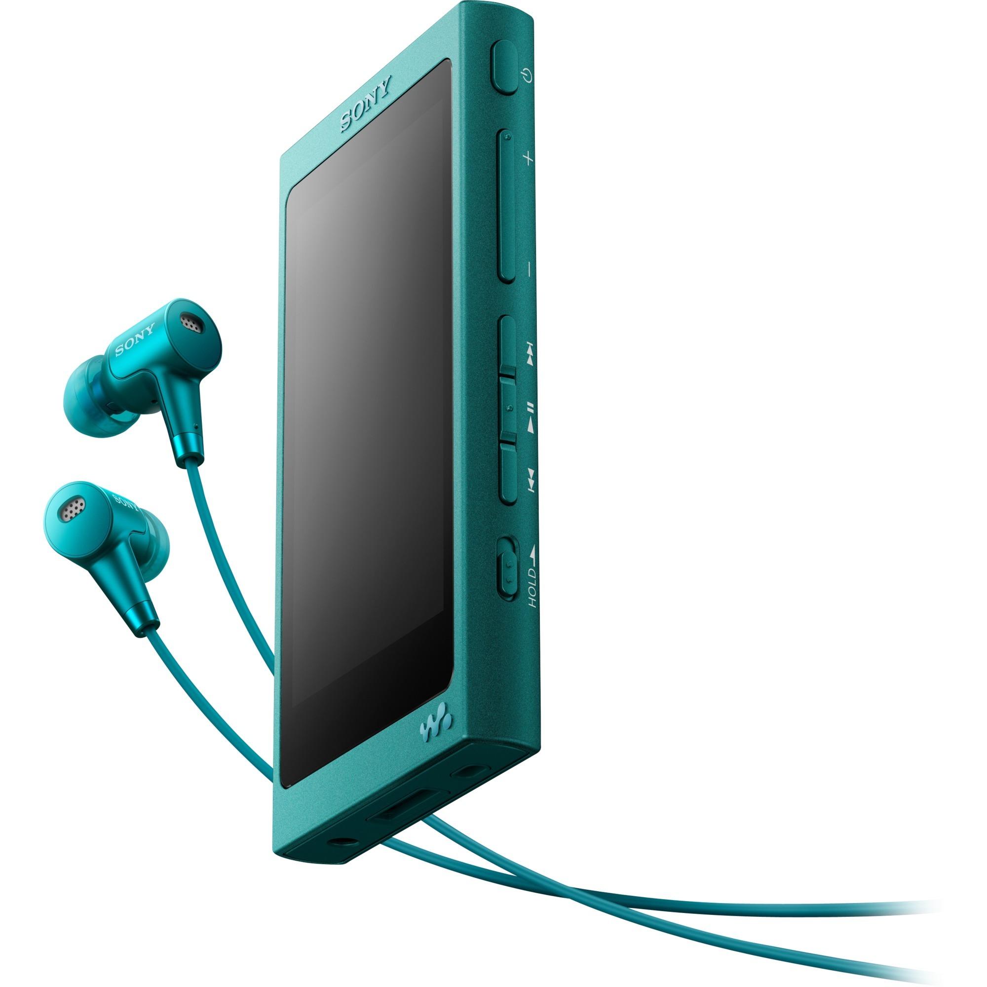 Walkman NW-A35HNL Reproductor de MP4 16GB Turquesa reproductor MP3/MP4