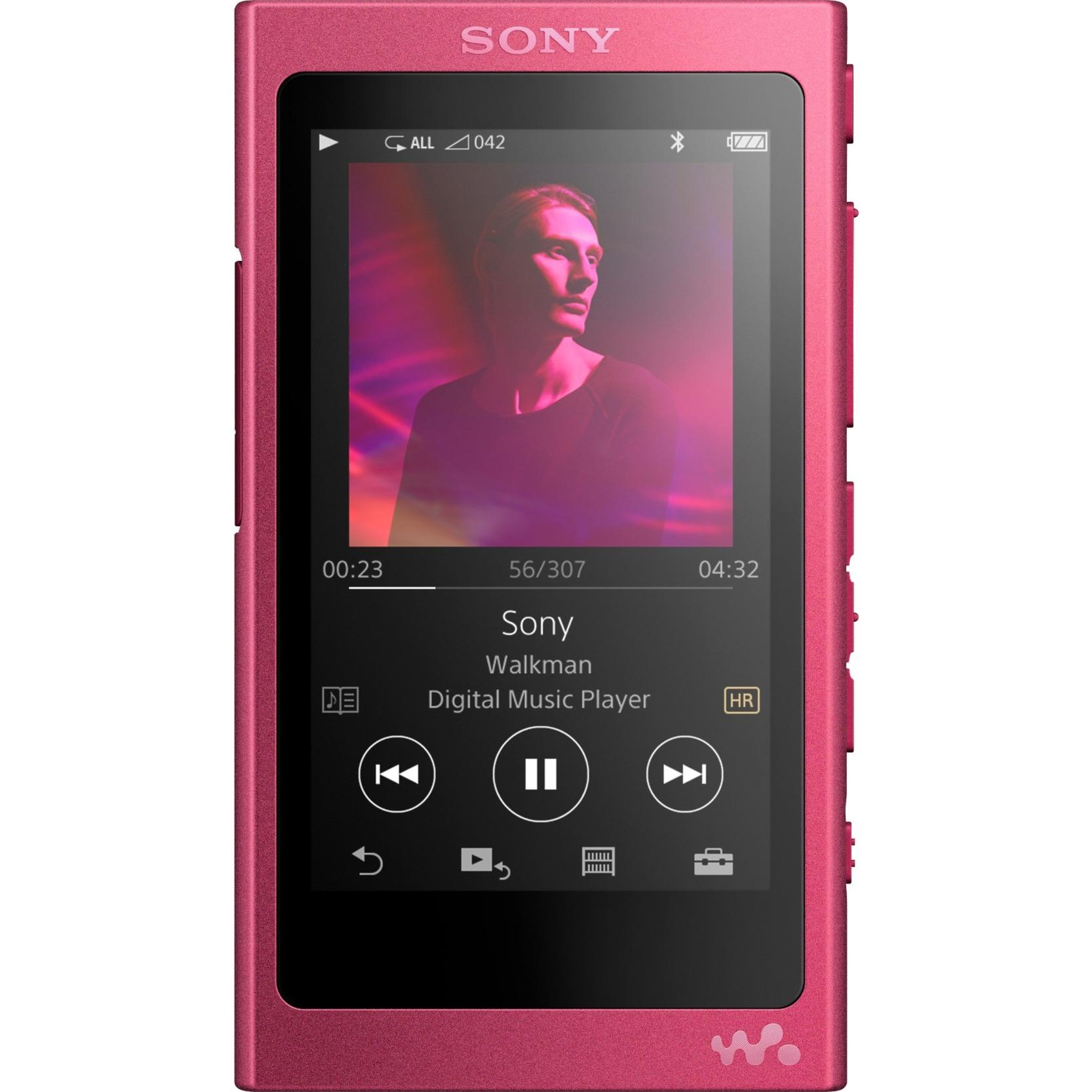 Walkman NW-A35P Reproductor de MP4 16GB Rosa reproductor MP3/MP4