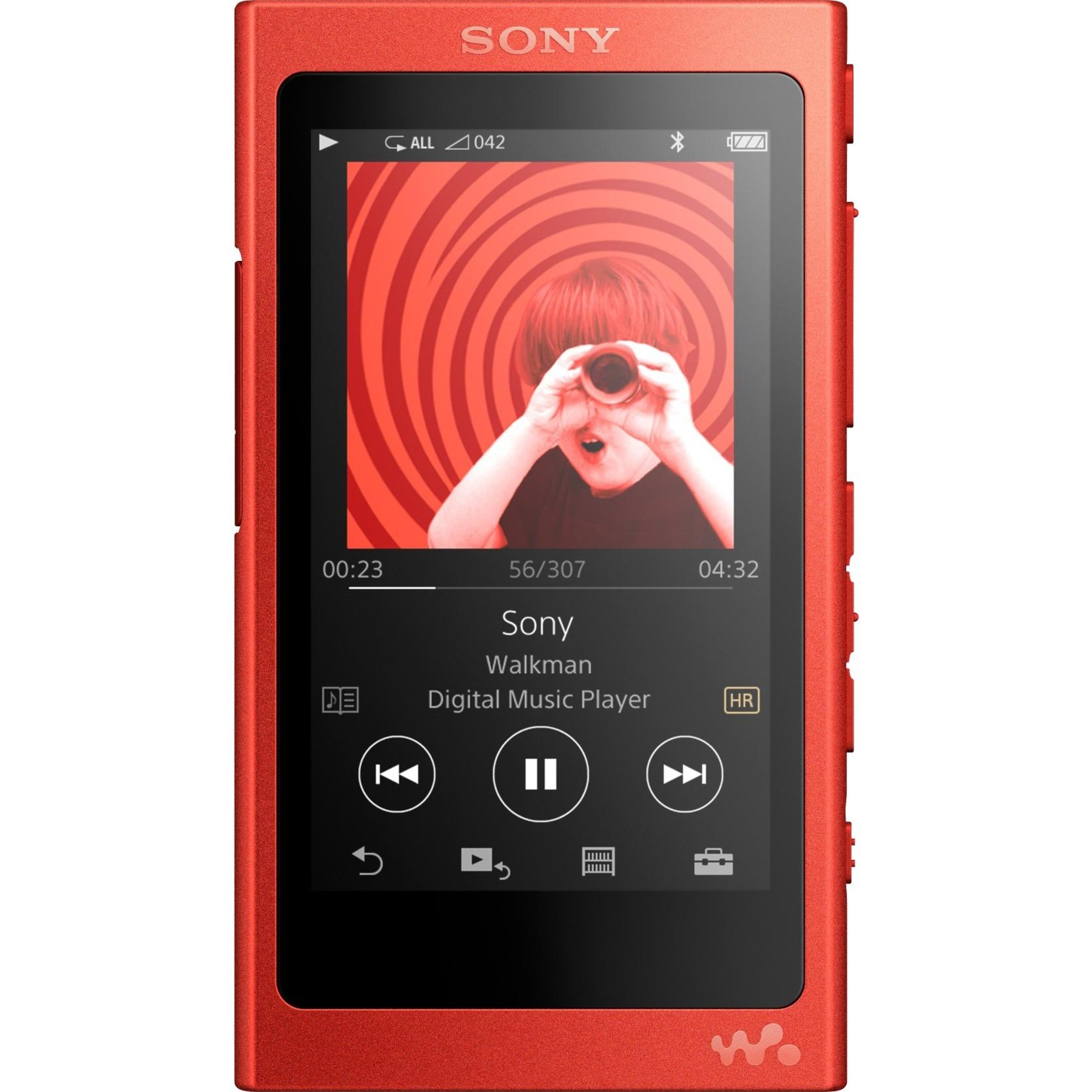 Walkman NW-A35R Reproductor de MP4 16GB Rojo reproductor MP3/MP4
