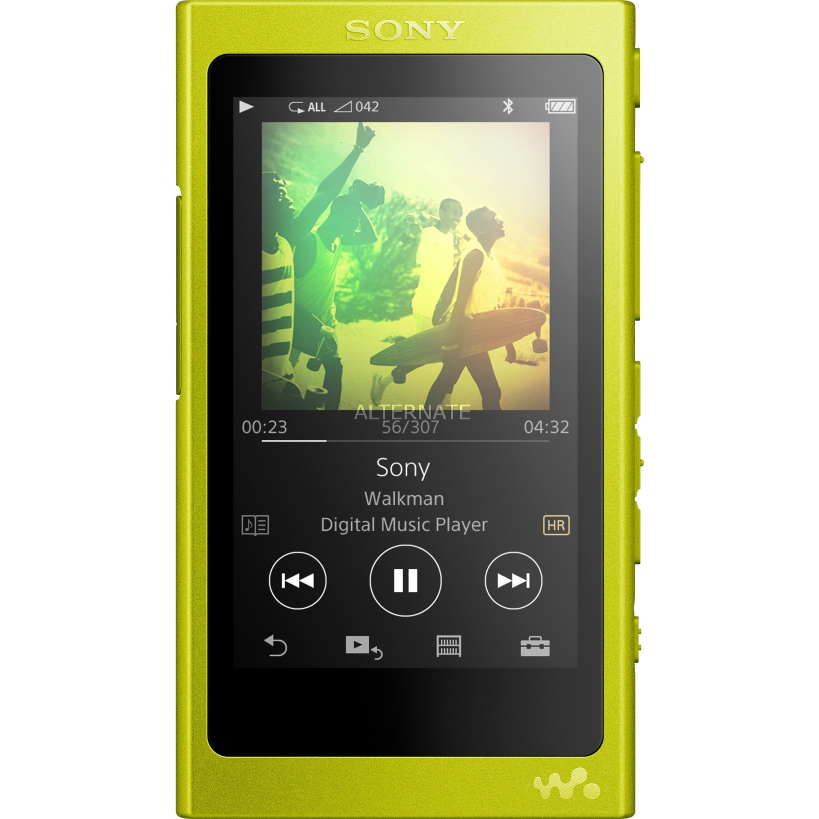 Walkman NW-A35Y Reproductor de MP4 16GB Amarillo reproductor MP3/MP4