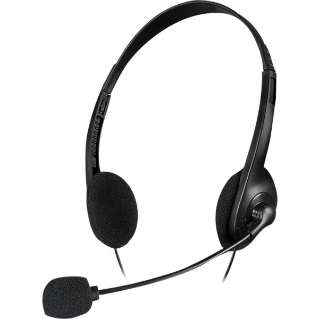 ACCORDO Binaurale Diadema Negro auricular con micrófono, Auriculares con micrófono