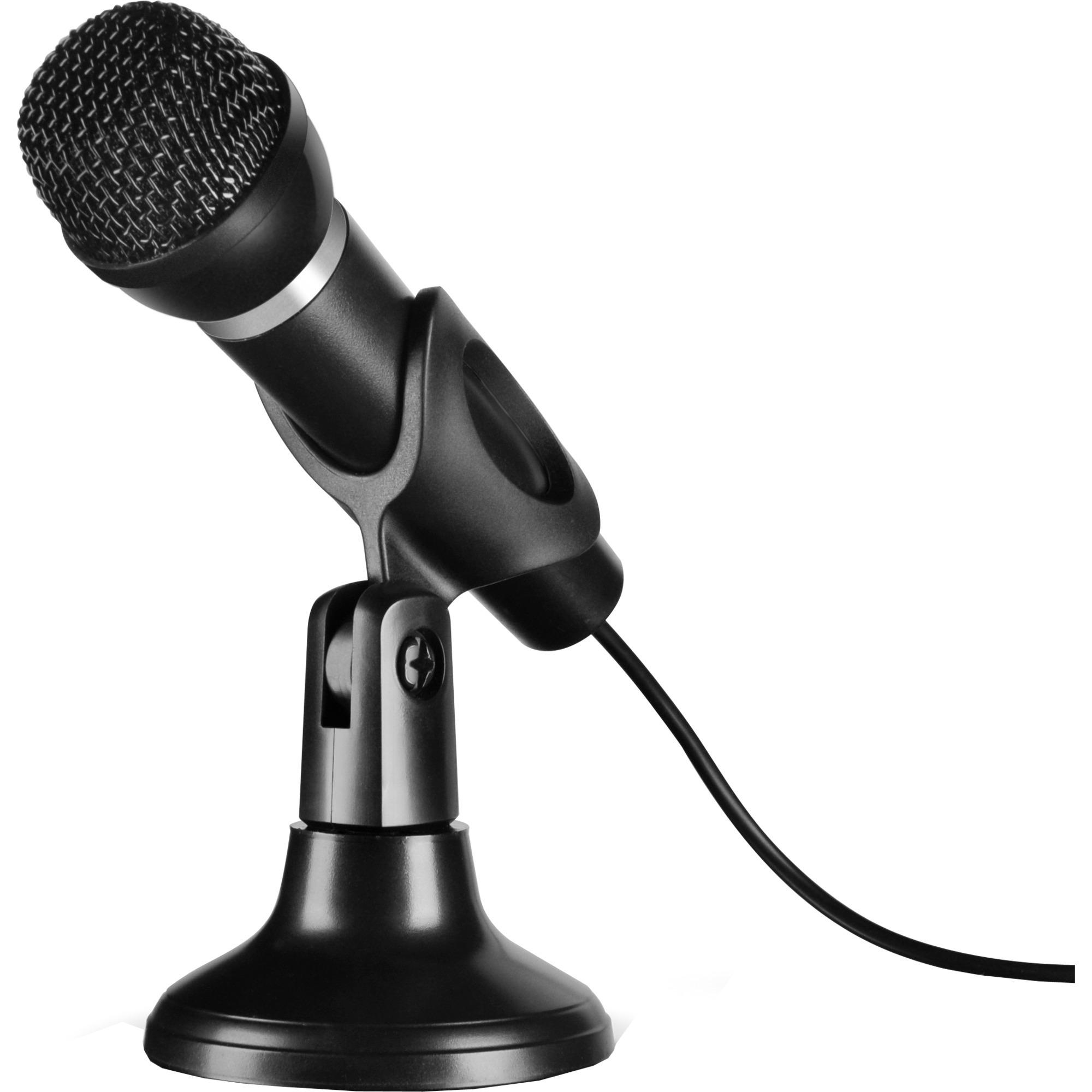 CAPO PC microphone Alámbrico Negro, Micrófono