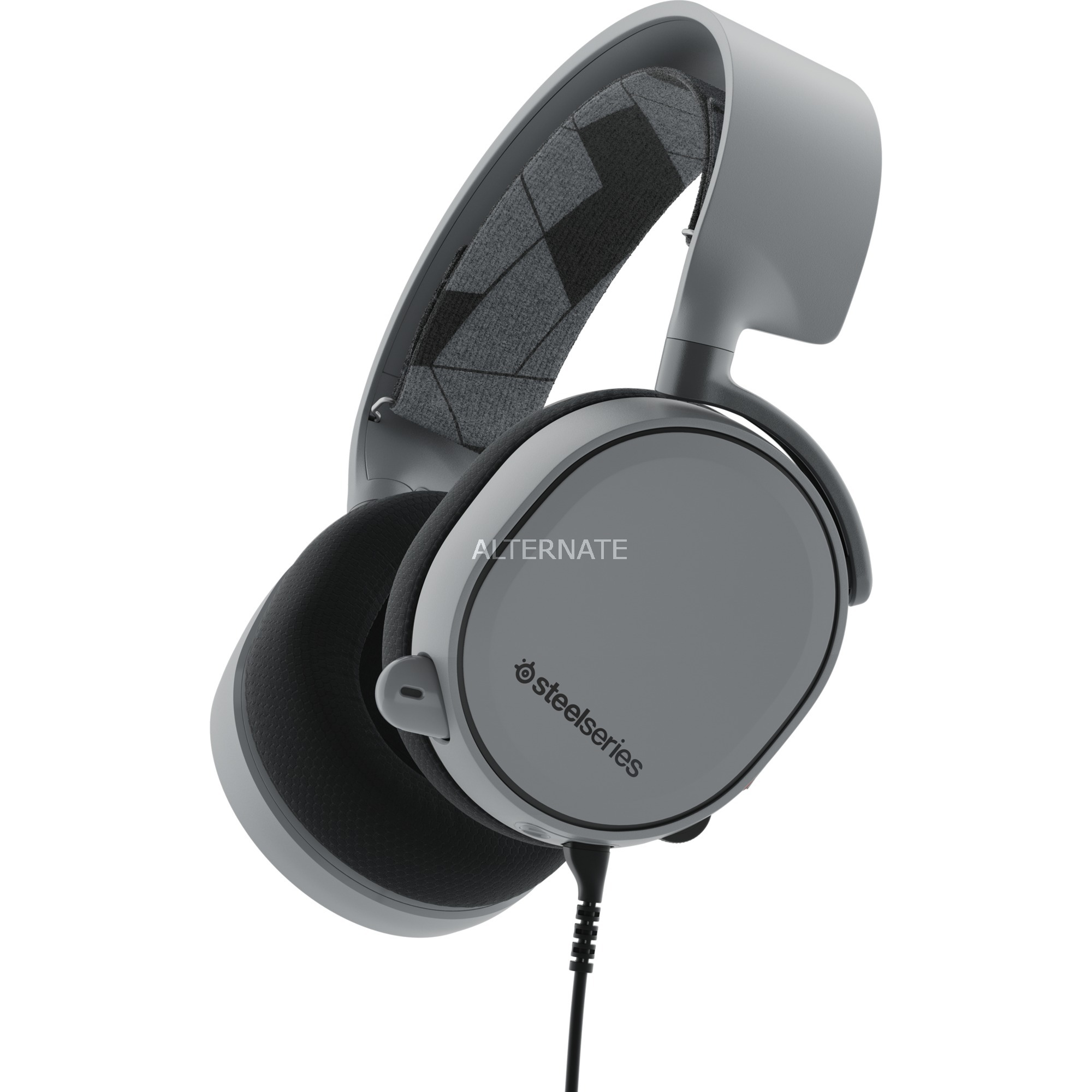 ARCTIS 3 Binaurale Diadema Gris auricular con micrófono, Auriculares con micrófono