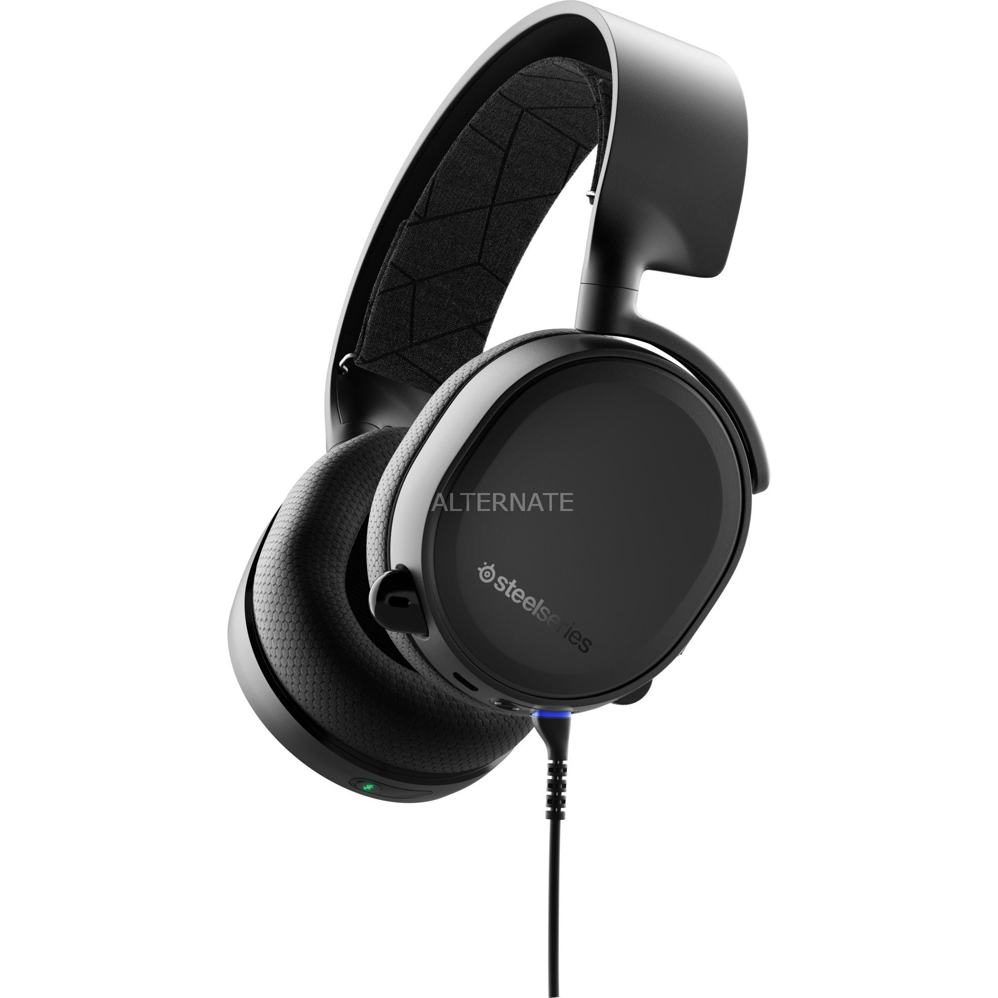 Arctis 3 Binaural Diadema Negro, Auriculares con micrófono