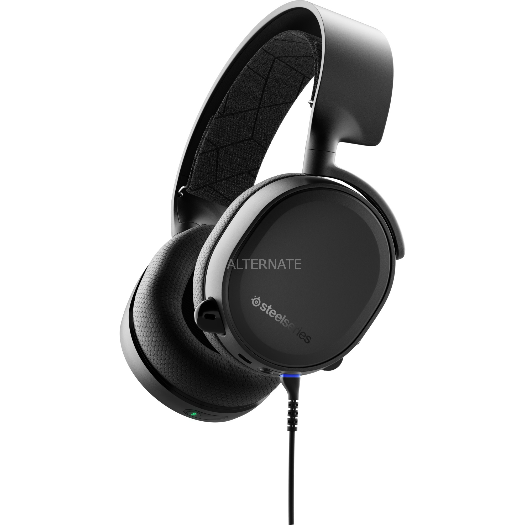 Arctis 3 auricular con micrófono Binaural Diadema Negro, Auriculares con micrófono