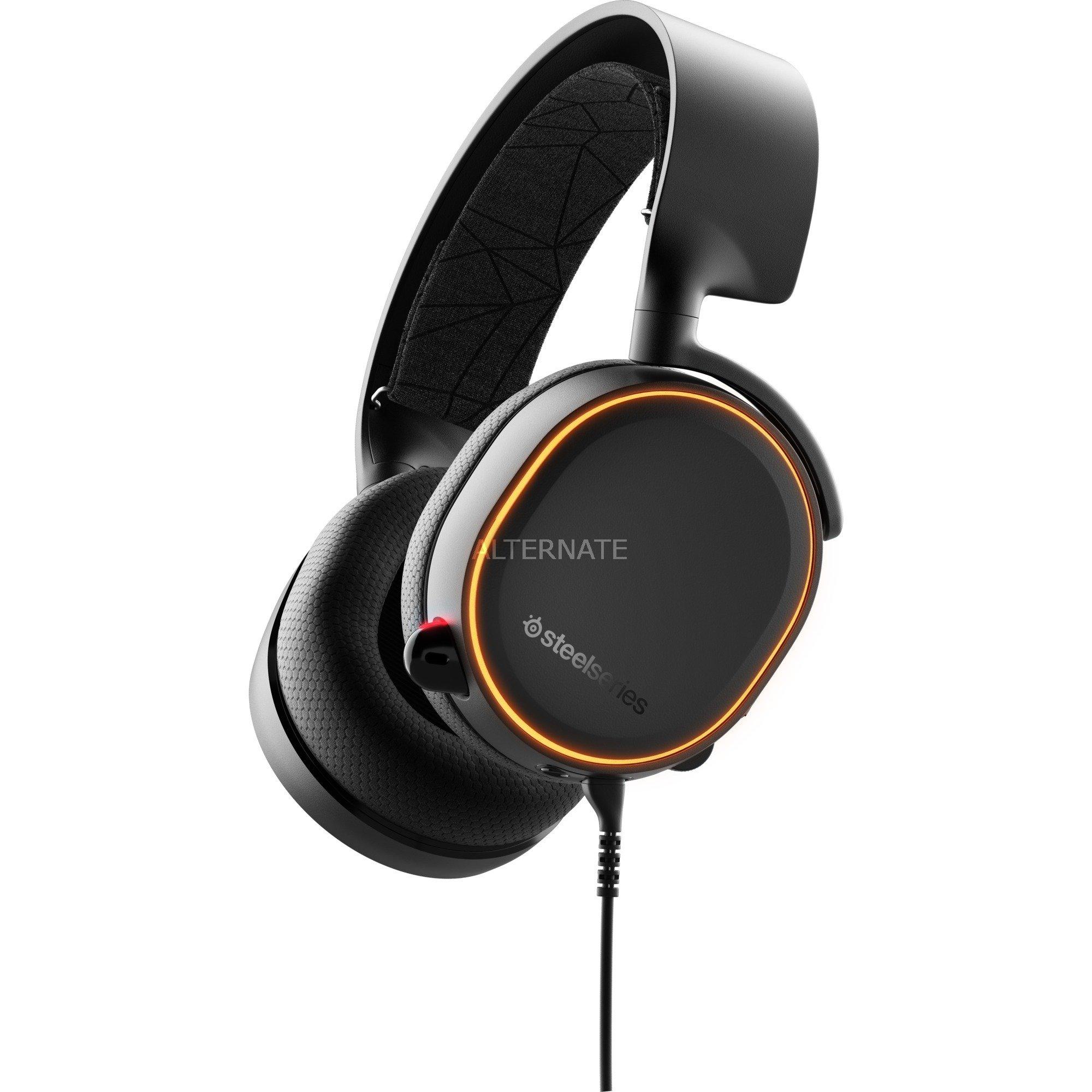 Arctis 5 Binaural Diadema Negro, Auriculares con micrófono