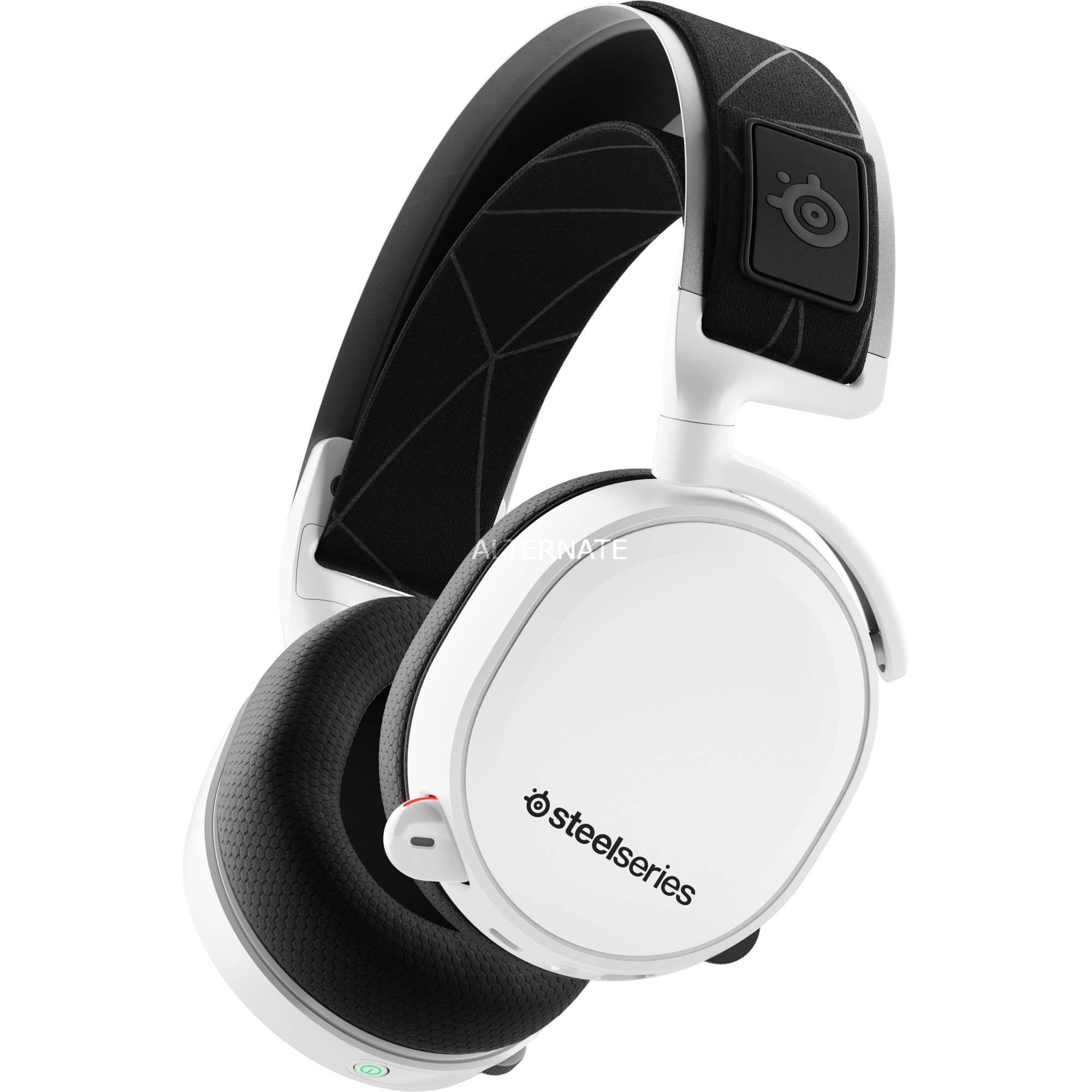 Arctis 7 Binaural Diadema Negro, Blanco auricular con micrófono, Auriculares con micrófono
