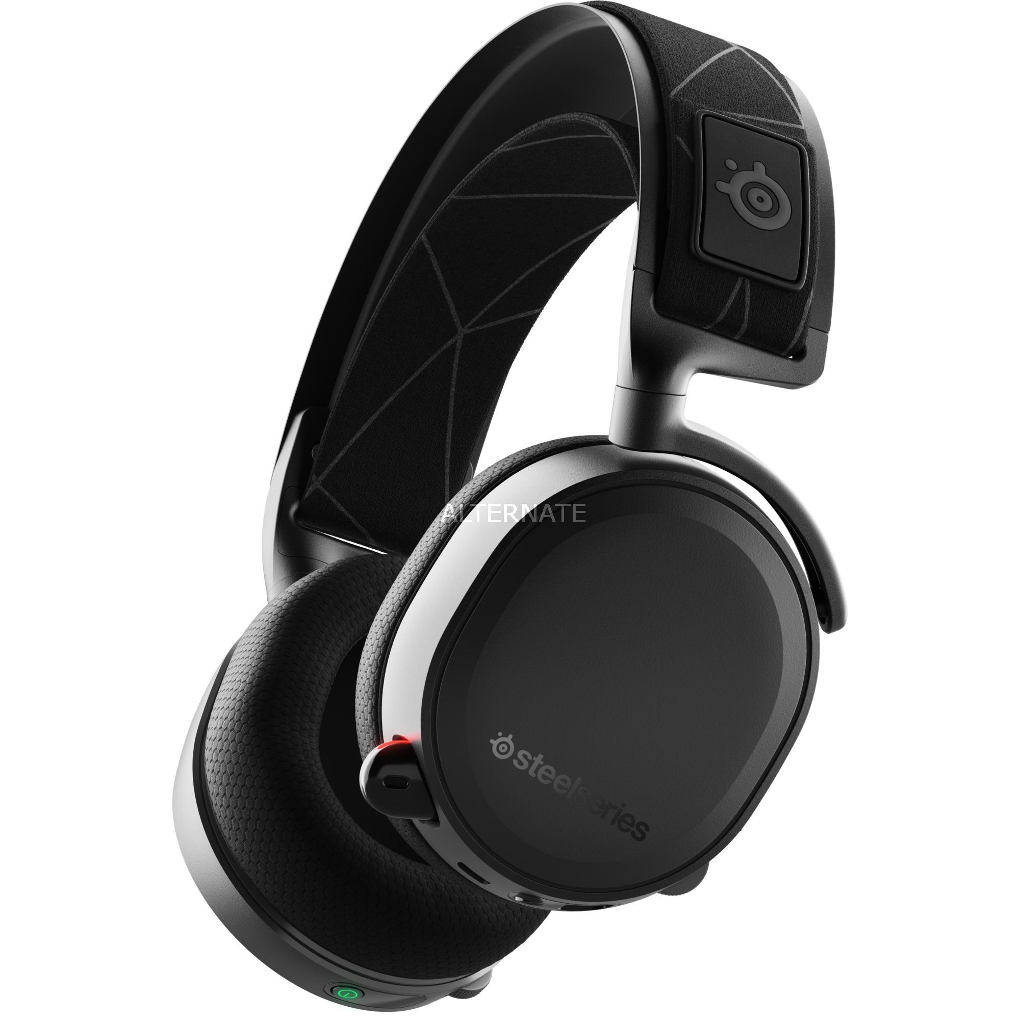 Arctis 7 auricular con micrófono Diadema Binaural Negro, Auriculares con micrófono