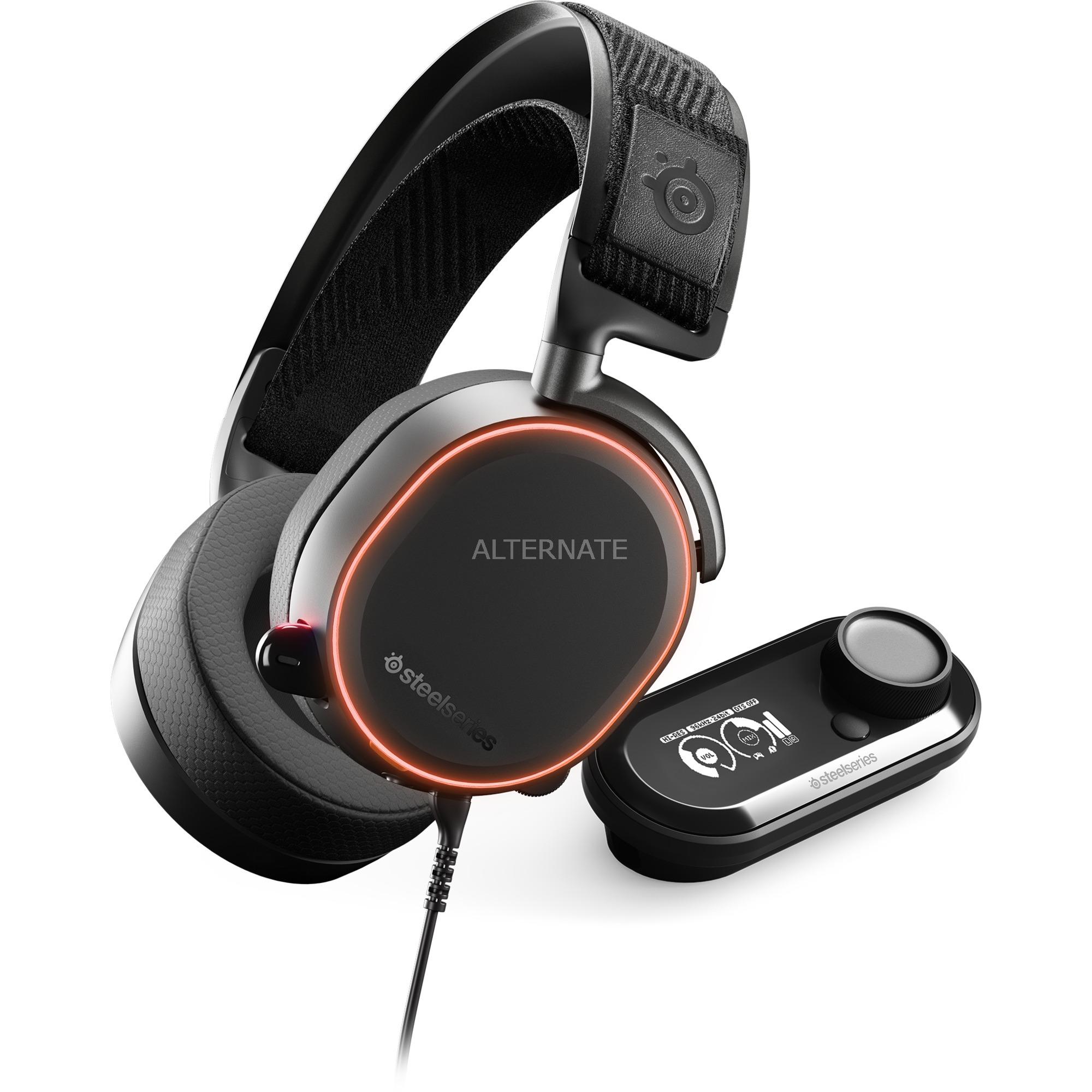 Arctis Pro + GameDAC auricular con micrófono Binaural Diadema Negro, Auriculares con micrófono