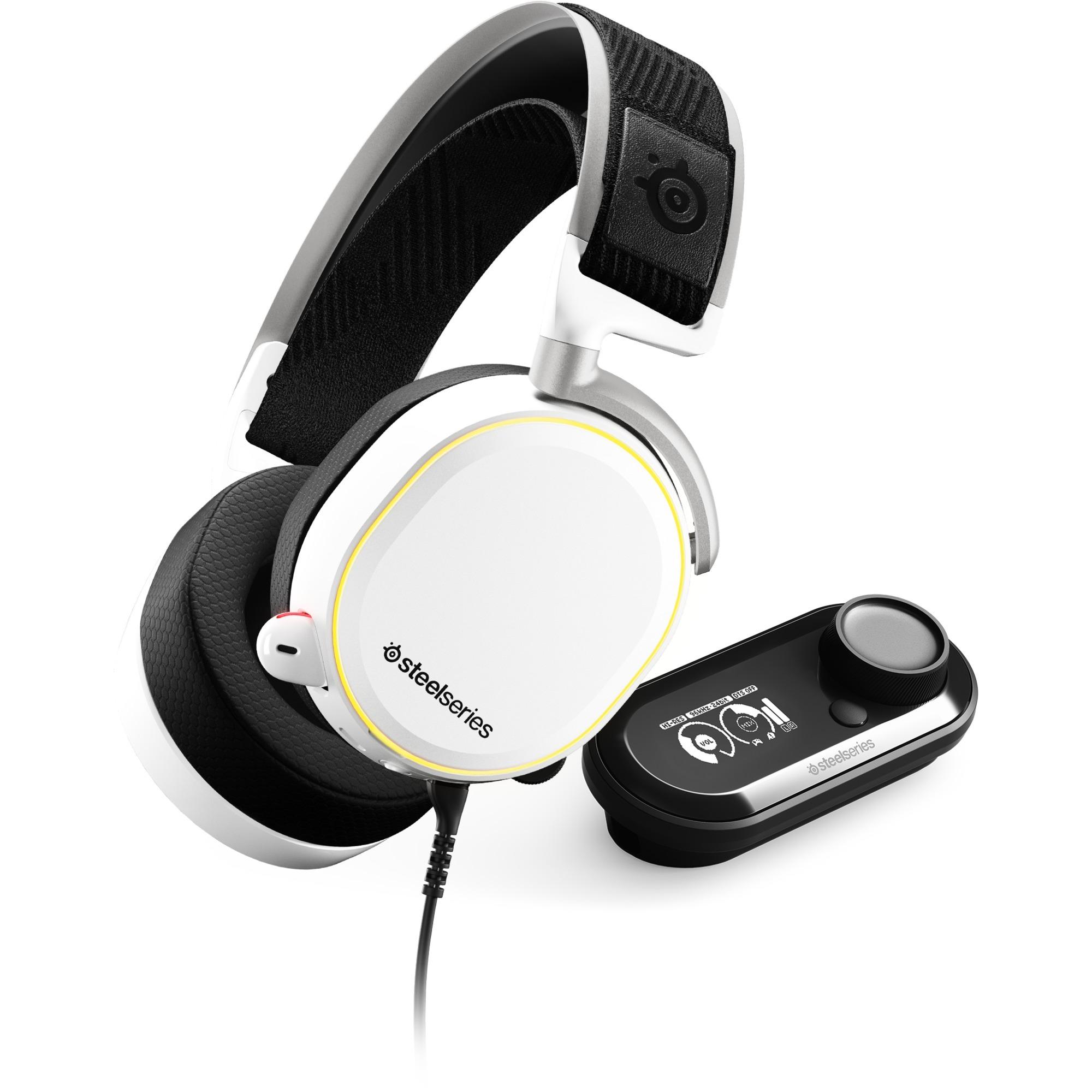 Arctis Pro + GameDAC auricular con micrófono Diadema Binaural Blanco, Auriculares con micrófono