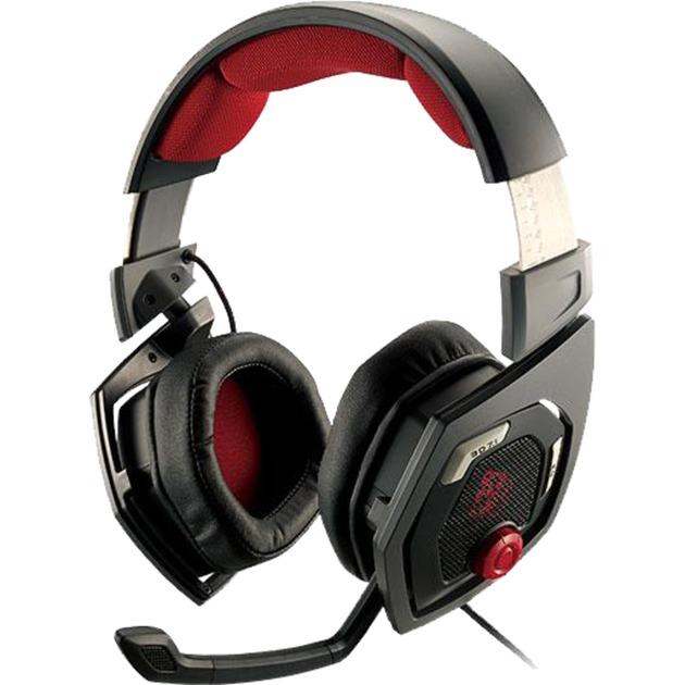 SHOCK 3D 7.1 auricular con micrófono Binaural Diadema Negro, Rojo, Auriculares con micrófono