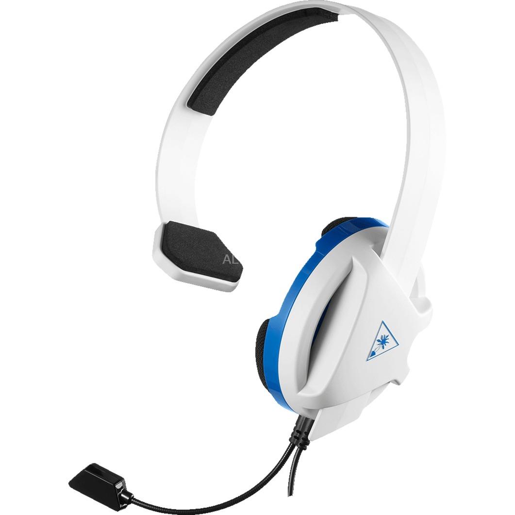 Recon Chat auricular con micrófono Diadema Monoaural Negro, Azul, Blanco, Auriculares con micrófono