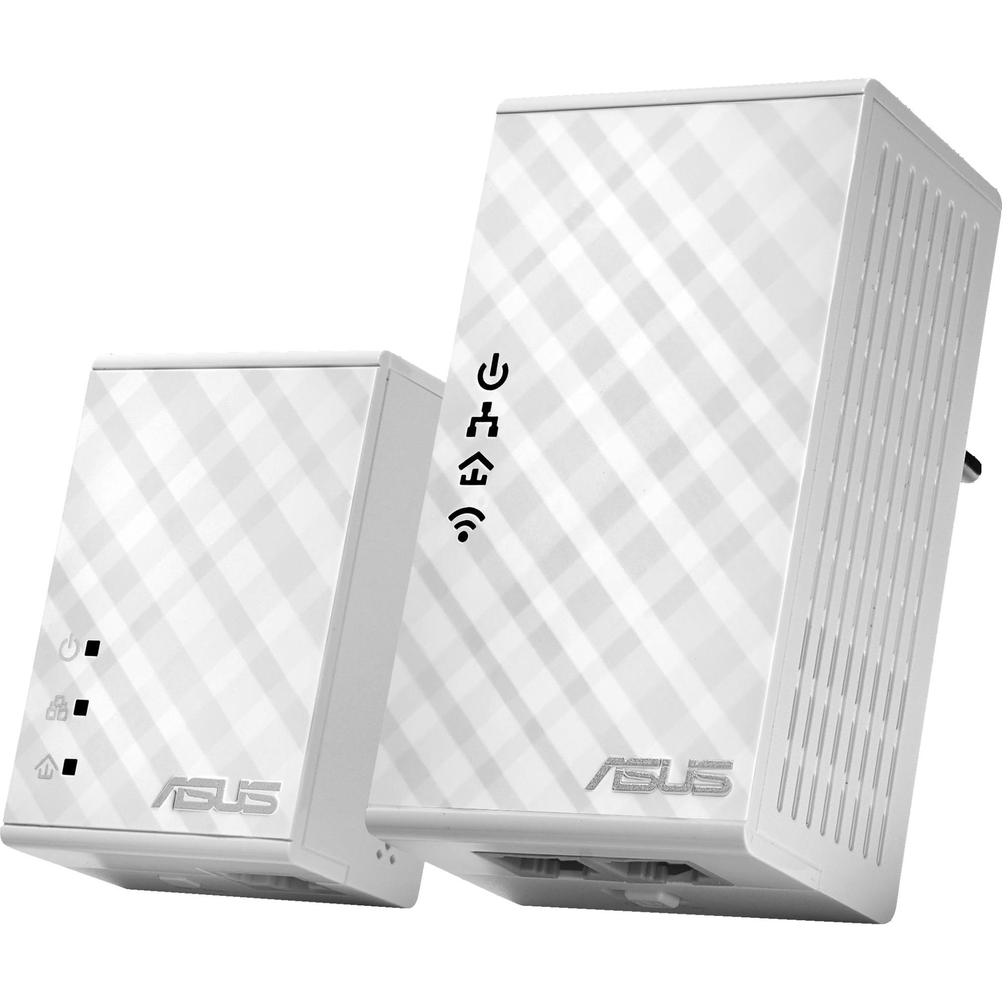 PL-N12 Kit 500 Mbit/s Ethernet Wifi Blanco 2 pieza(s), PowerLAN
