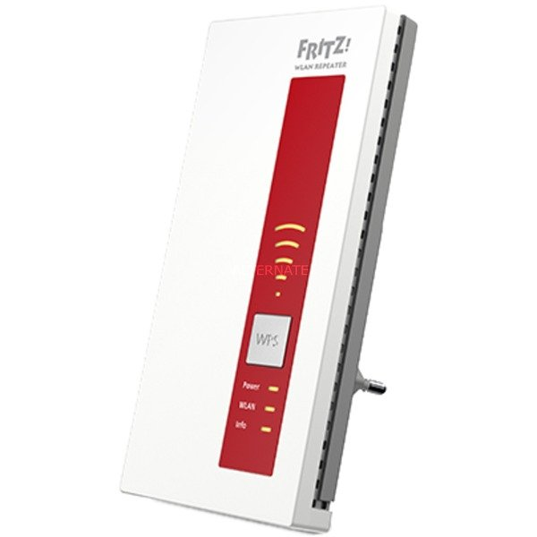 FRITZ!WLAN Repeater 1160 Network repeater Rojo, Color blanco, Repetidor