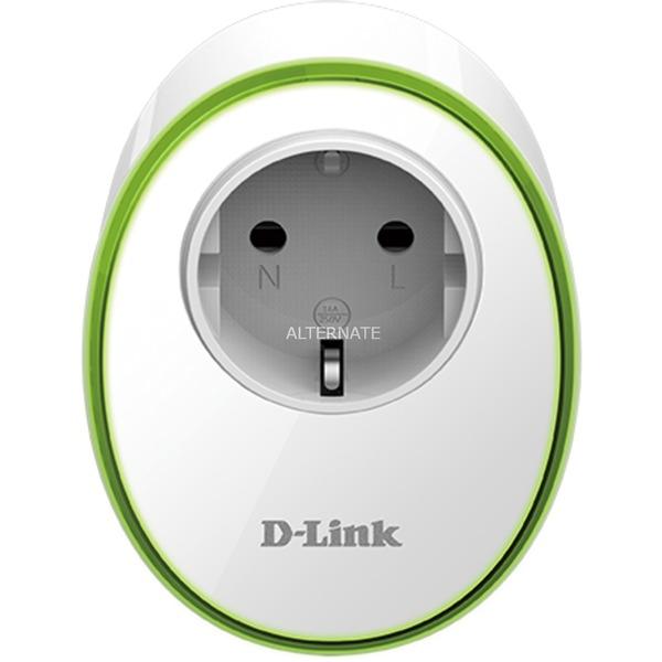 DSP-W115 3680W Blanco enchufe inteligente, Toma de corriente con interruptor