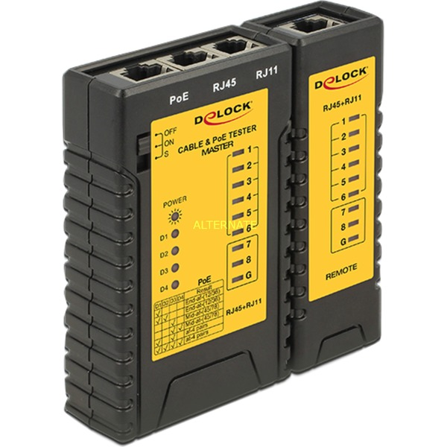 86107 comprobador de cables de red Negro, Amarillo