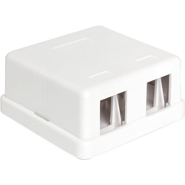 86207 2x Keystone Blanco conector, Caja/Carcasa