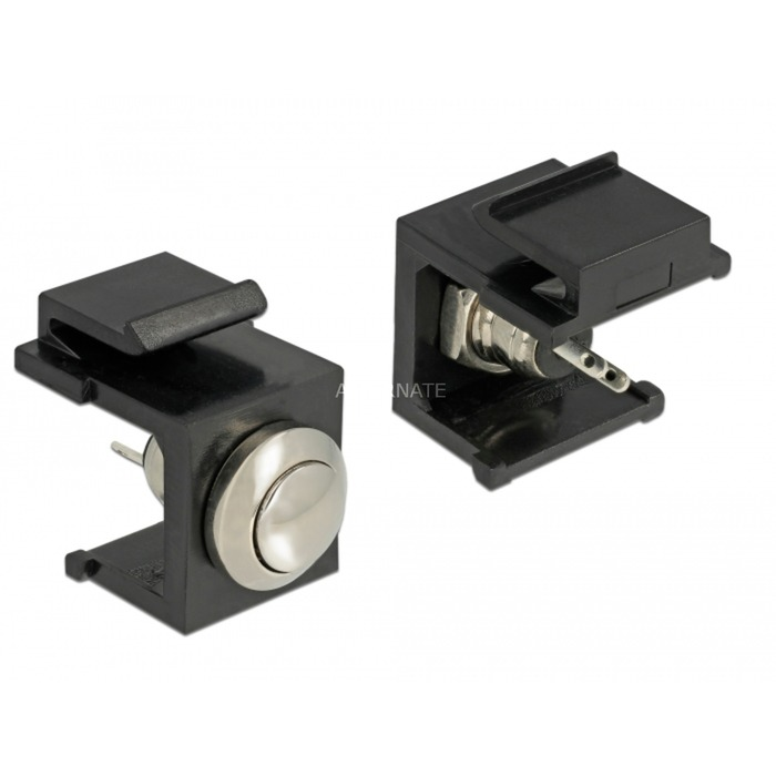 86402 Keystone LED Negro, Acero inoxidable conector, Módulo Keystone