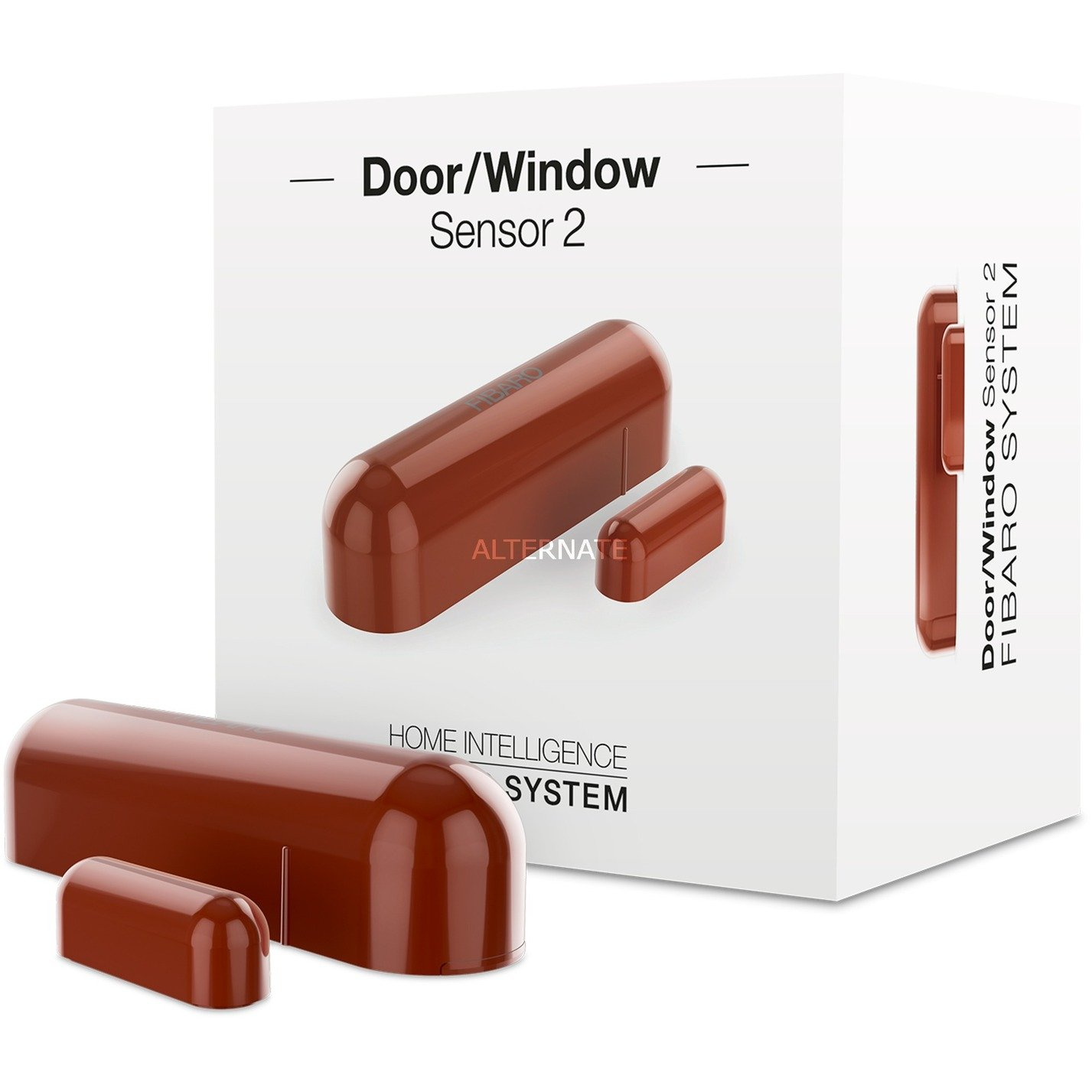 FGDW-002-7 ZW5 sensor de puerta / ventana Inalámbrico Marrón, Detector de apertura