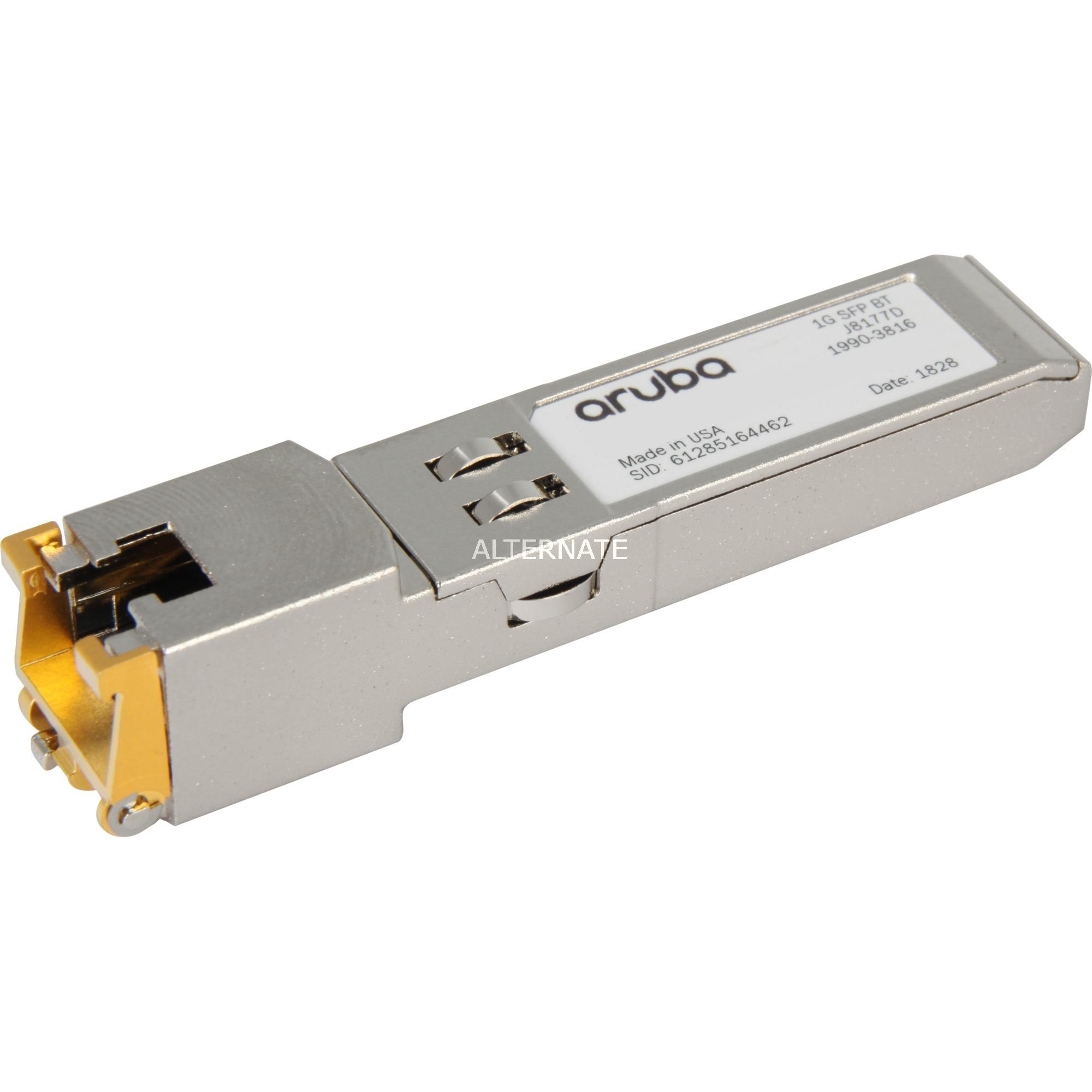 Aruba 1G SFP RJ45 T red modulo transceptor 1000 Mbit/s