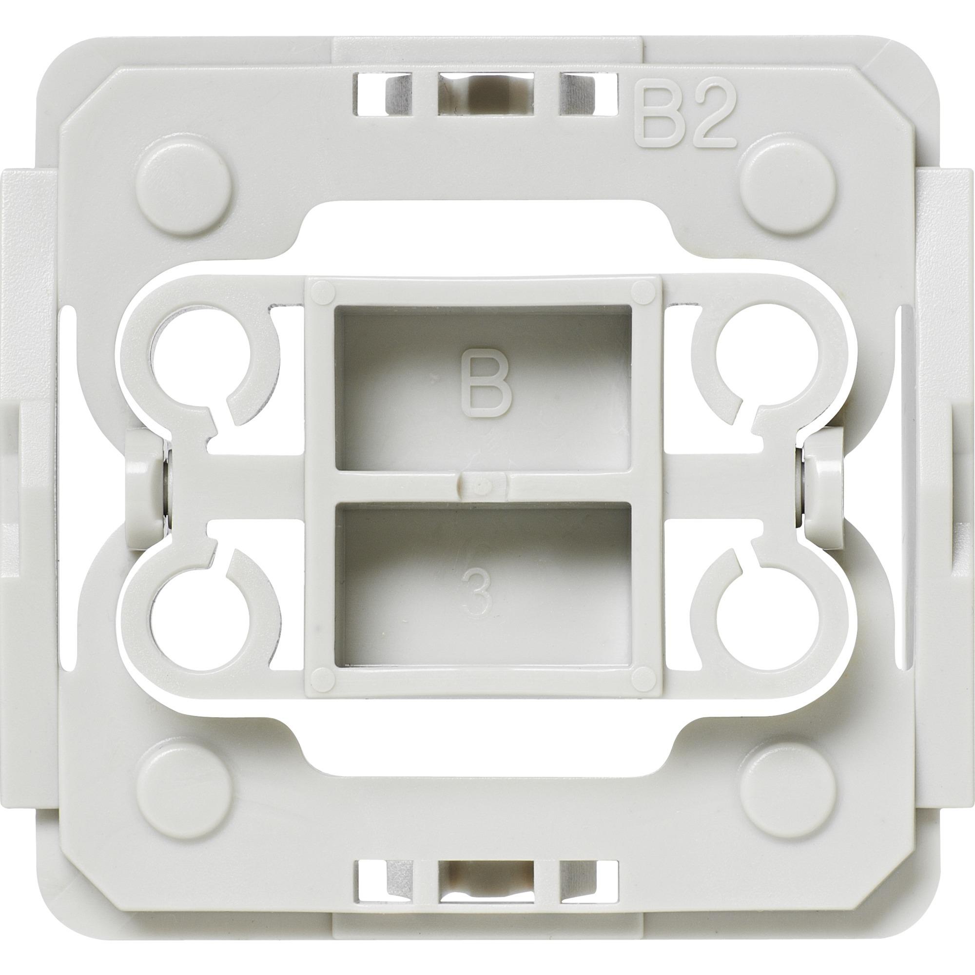 EQ3-ADA-B2 Integrado Atenuador e interruptor Gris, Color blanco, Adaptador