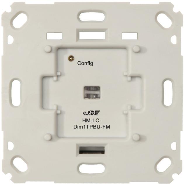 HM-LC-Dim1TPBU-FM Integrado Atenuador e interruptor Blanco, Interruptor con regulador de voltaje