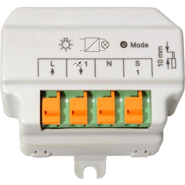 HM-LC-Dim1T-FM Regulador de intensidad Blanco, Interruptor con regulador de voltaje