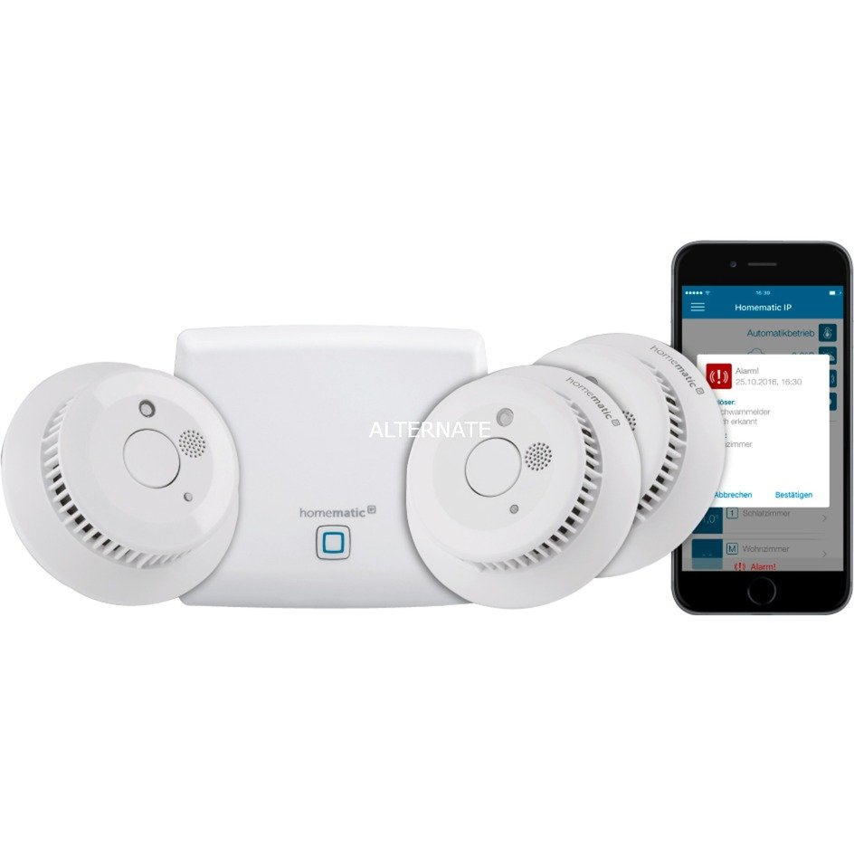 HmIP-SK4 sistema de seguridad inteligente para el hogar, Detector de humo