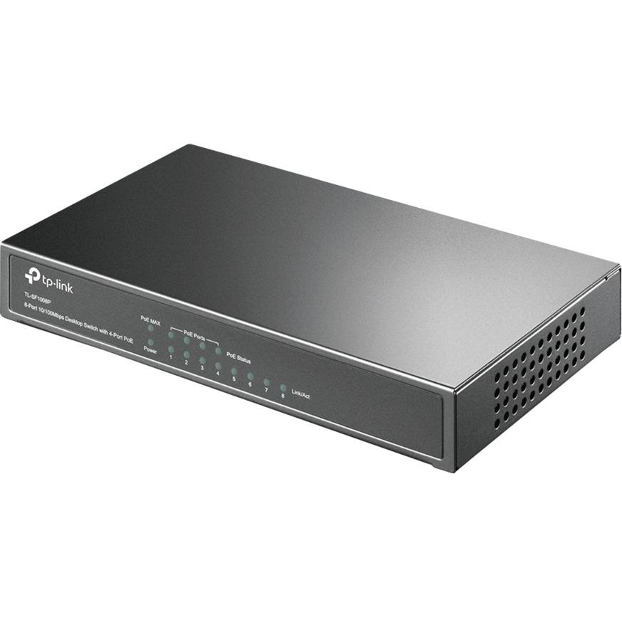 8-port 10/100 PoE Switch No administrado Negro Energía sobre Ethernet (PoE), Interruptor/Conmutador
