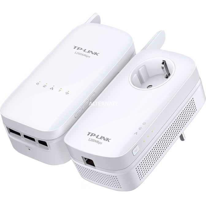 AV1200 1200Mbit/s Ethernet Wifi Blanco 2pieza(s), PowerLAN