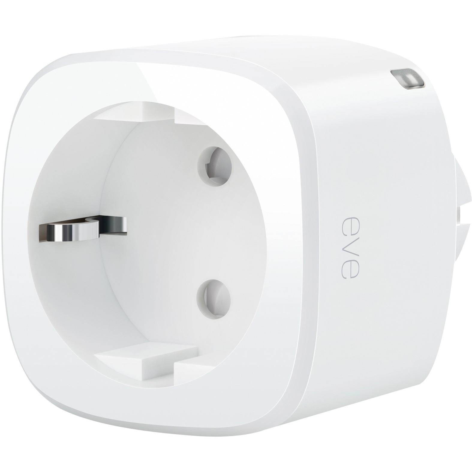 Energy 2500W Color blanco enchufe inteligente, Interruptor