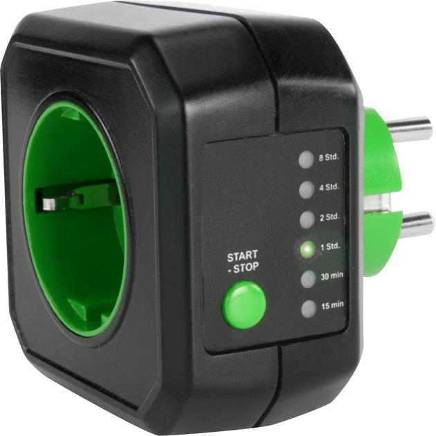 AES1 adaptador e inversor de corriente Negro, Adaptador de enchufe