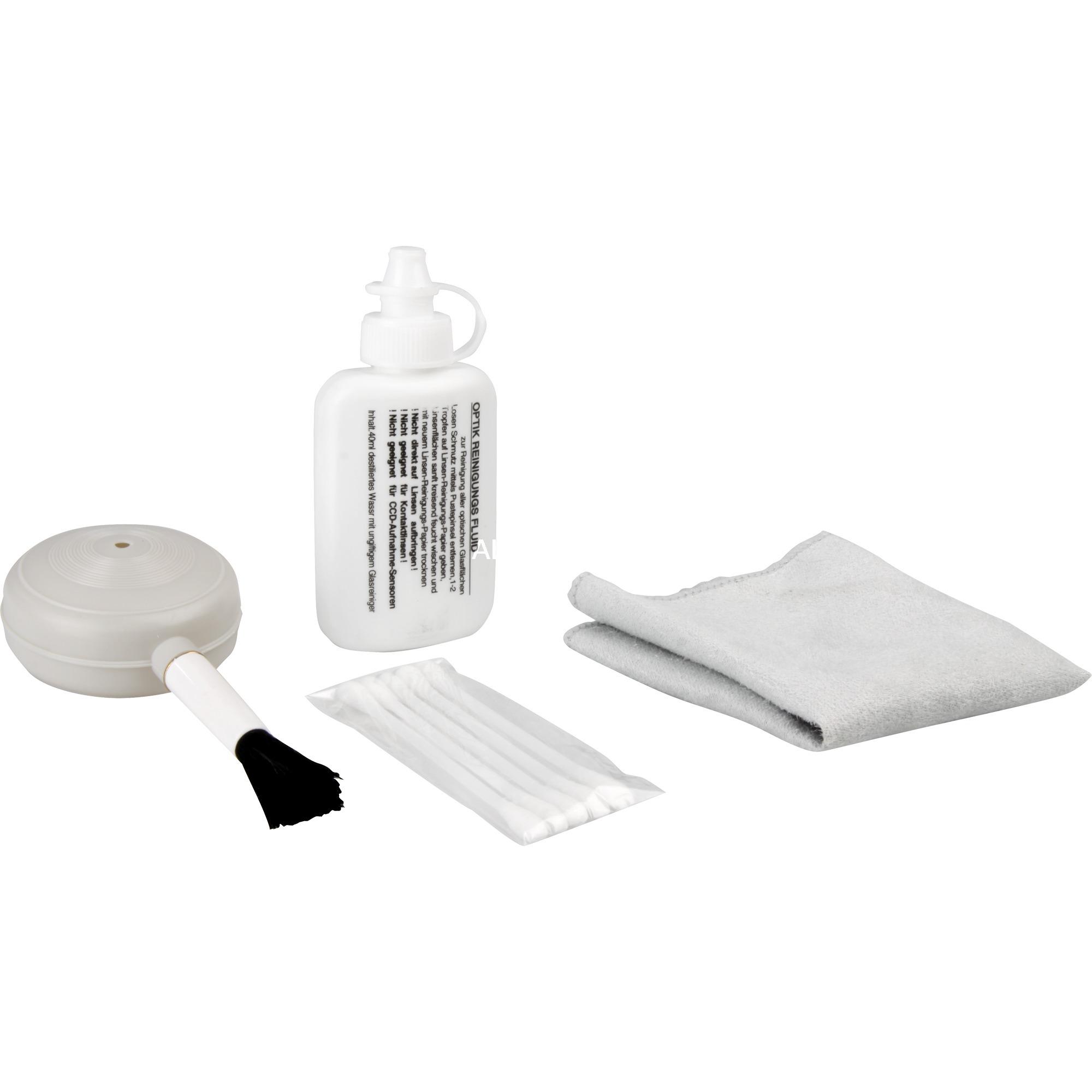 Clean Kit Líquido y paños secos/húmedos para limpieza de equipos, Productos de limpieza