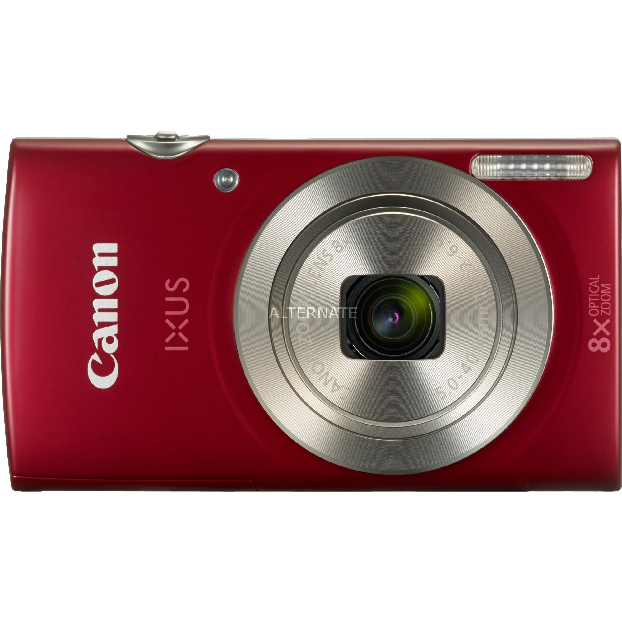 "Digital IXUS 185 Cámara compacta 20 MP 1/2.3"" CCD 5152 x 3864 Pixeles Rojo, Cámara digital"