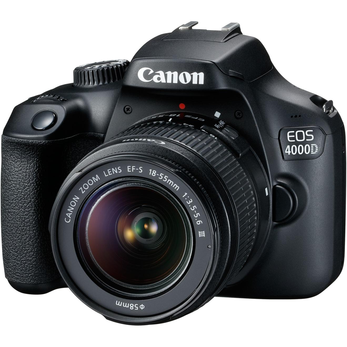 EOS 4000D Juego de cámara SLR 18 MP 5184 x 3456 Pixeles Negro, Cámara digital