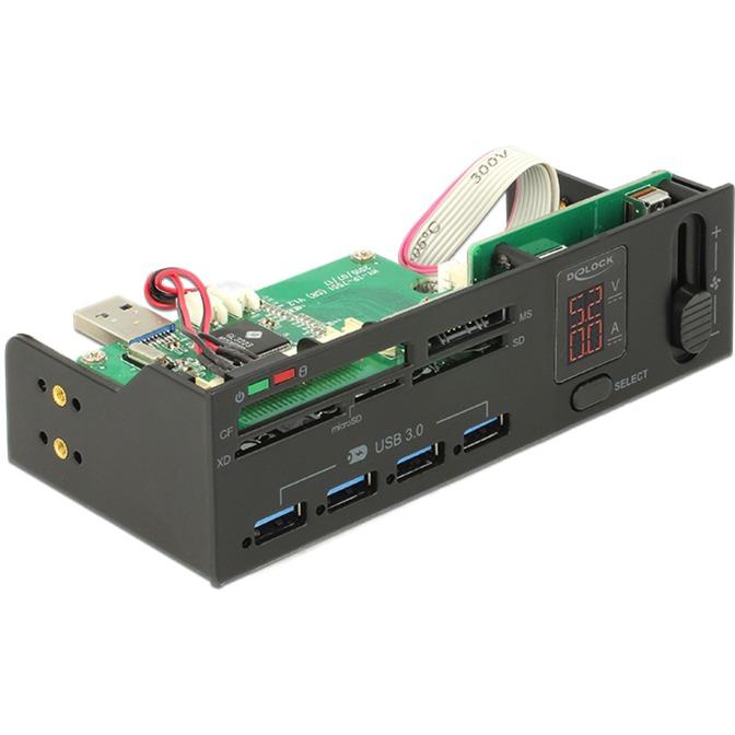 91494 lector de tarjeta Interno USB 3.0 Negro, Lector de tarjetas