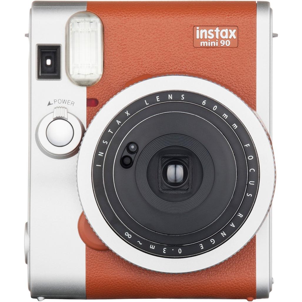 instax mini 90 NEO CLASSIC 62 x 46mm Marrón, Acero inoxidable cámara instantánea impresión
