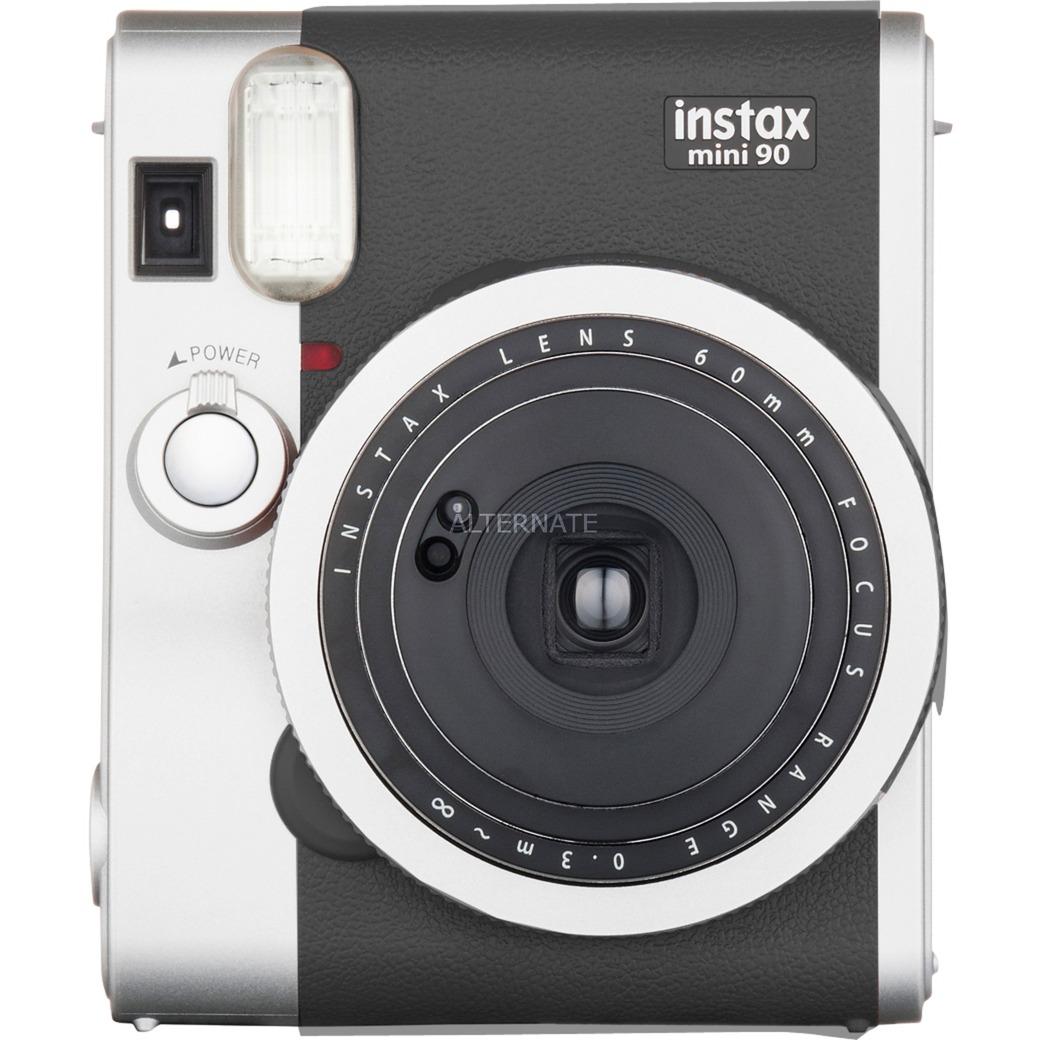instax mini 90 NEO CLASSIC cámara instantánea impresión Negro, Acero inoxidable