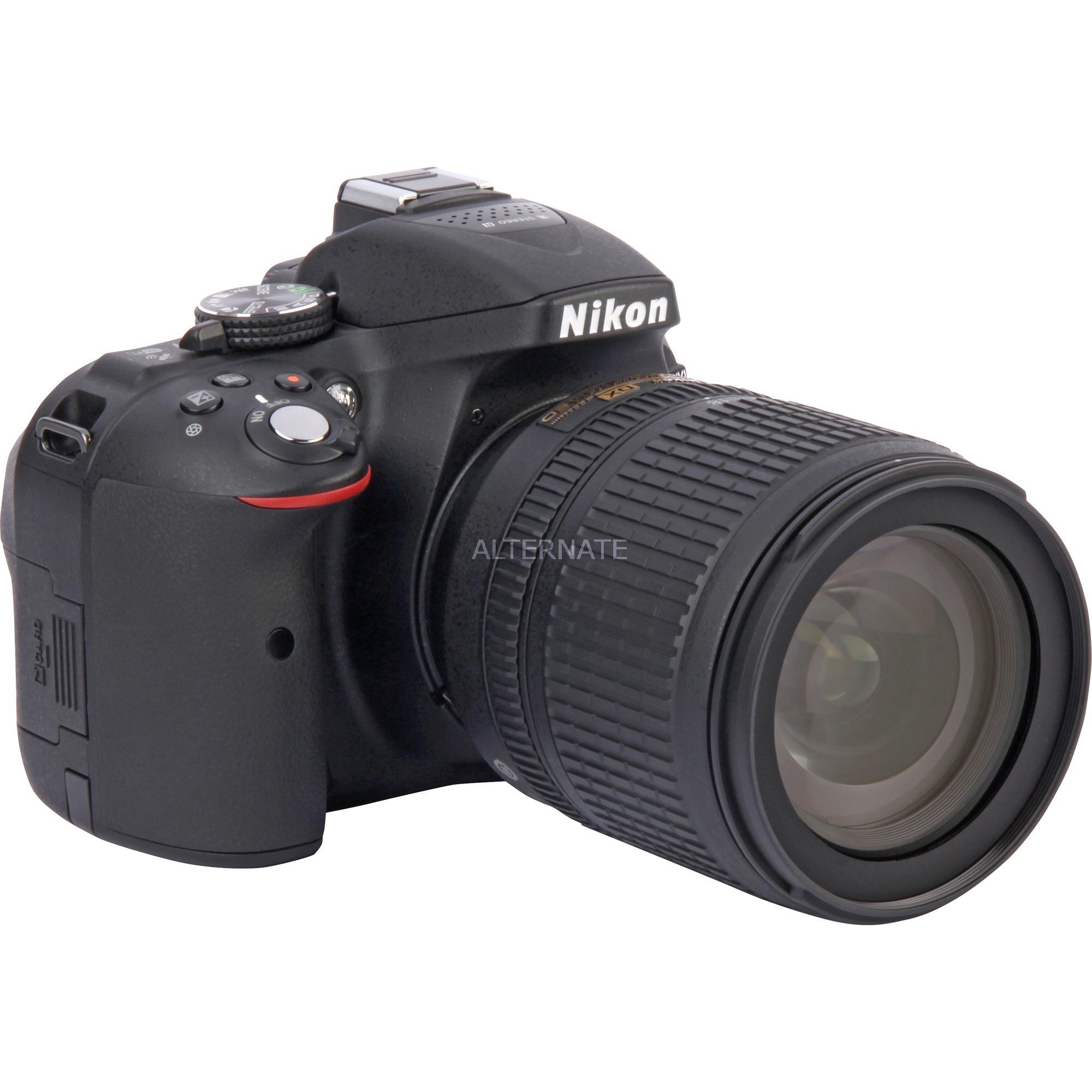 D5300 + AF-S DX NIKKOR 18-105mm Juego de cámara SLR 24.2MP CMOS 6000 x 4000Pixeles Negro, Cámara digital