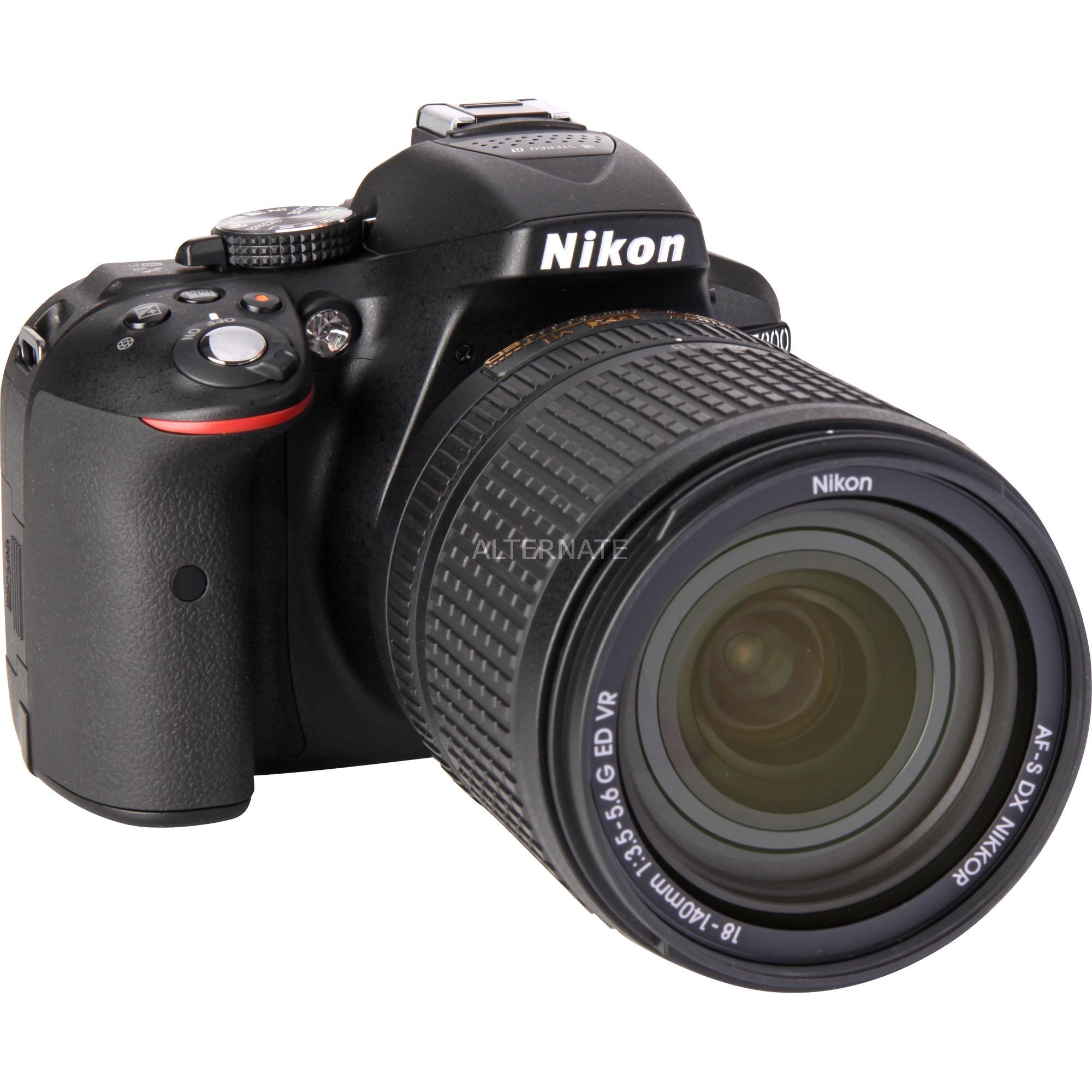 D5300 + AF-S DX NIKKOR 18-140mm VR Juego de cámara SLR 24.2MP CMOS 6000 x 4000Pixeles Negro, Cámara digital