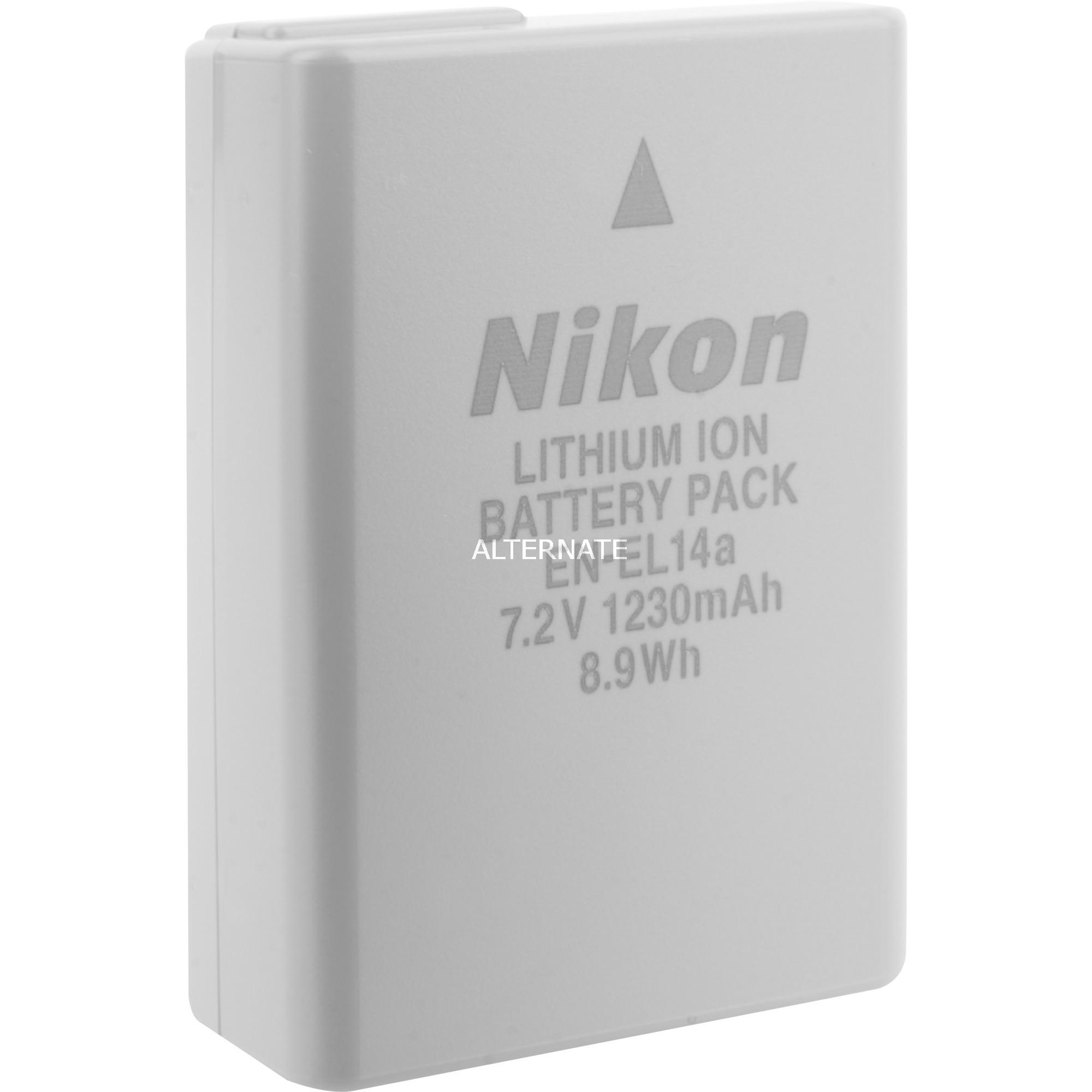 EN-EL14a iones de litio 1230mAh 7.2V batería recargable, Batería para cámara