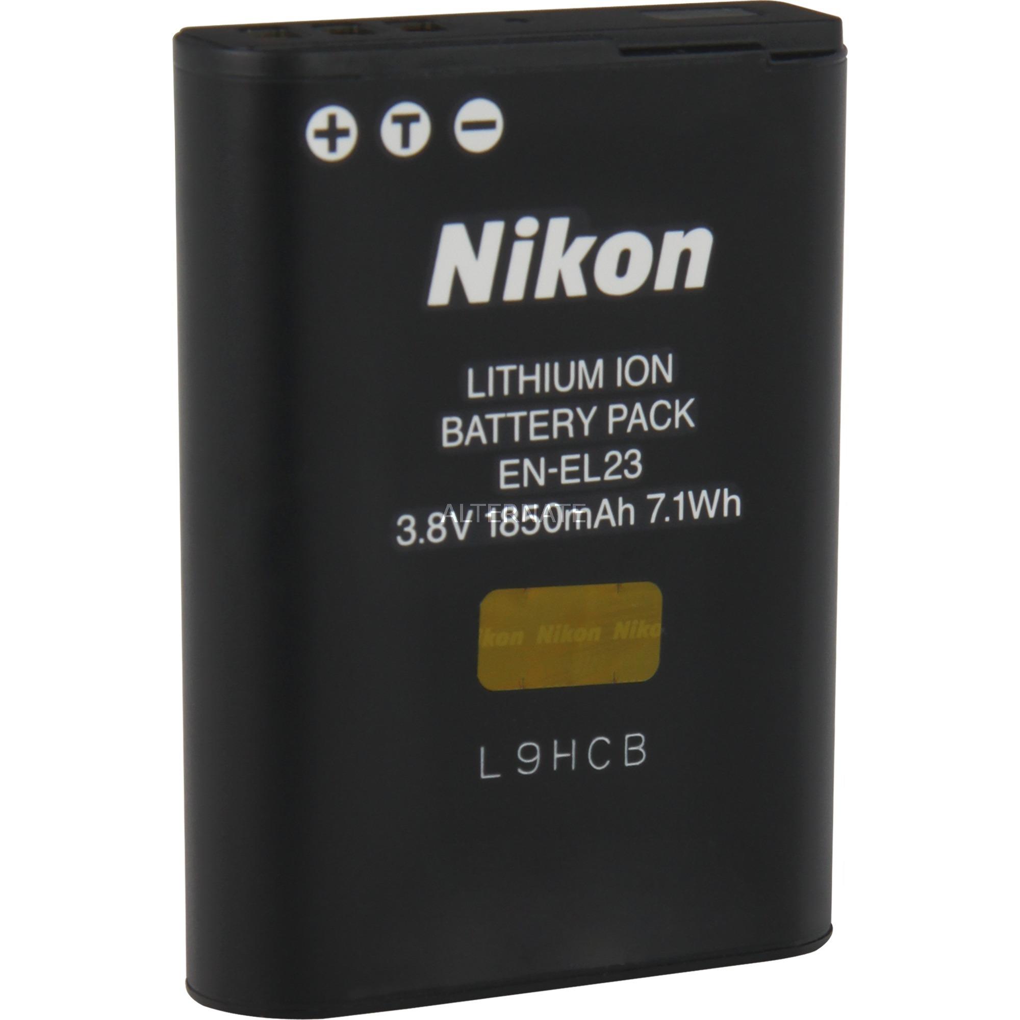 EN-EL23 iones de litio 1850mAh 3.8V batería recargable, Batería para cámara
