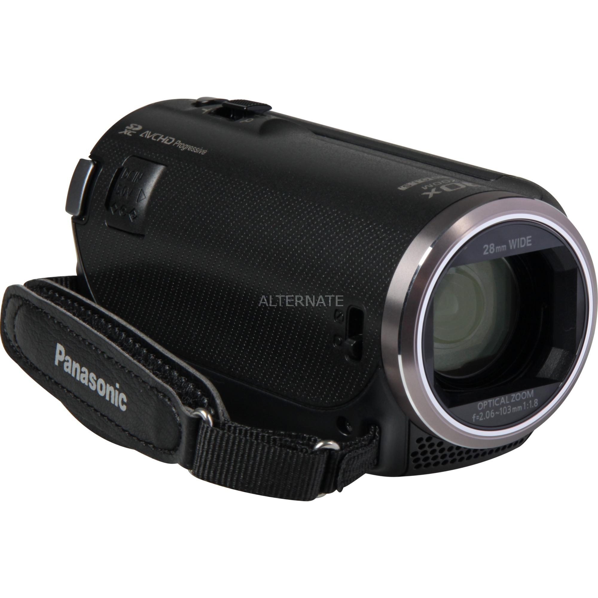 HC-V180EG-K soporte de videocámara 2,51 MP MOS BSI Videocámara manual Negro Full HD, Cámara de vídeo